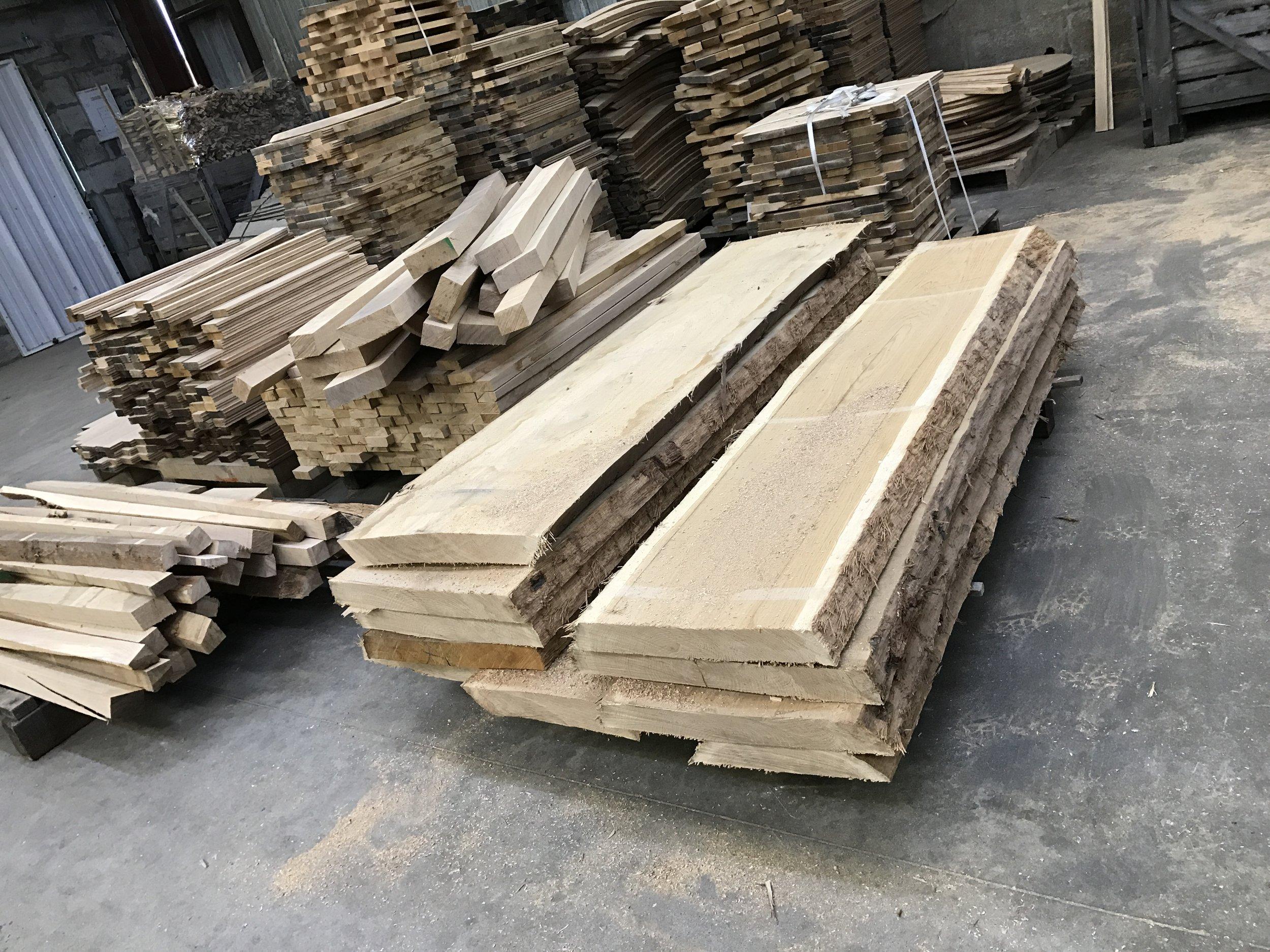 Oak, soon to be barrels, at Tonnellerie Bossuet