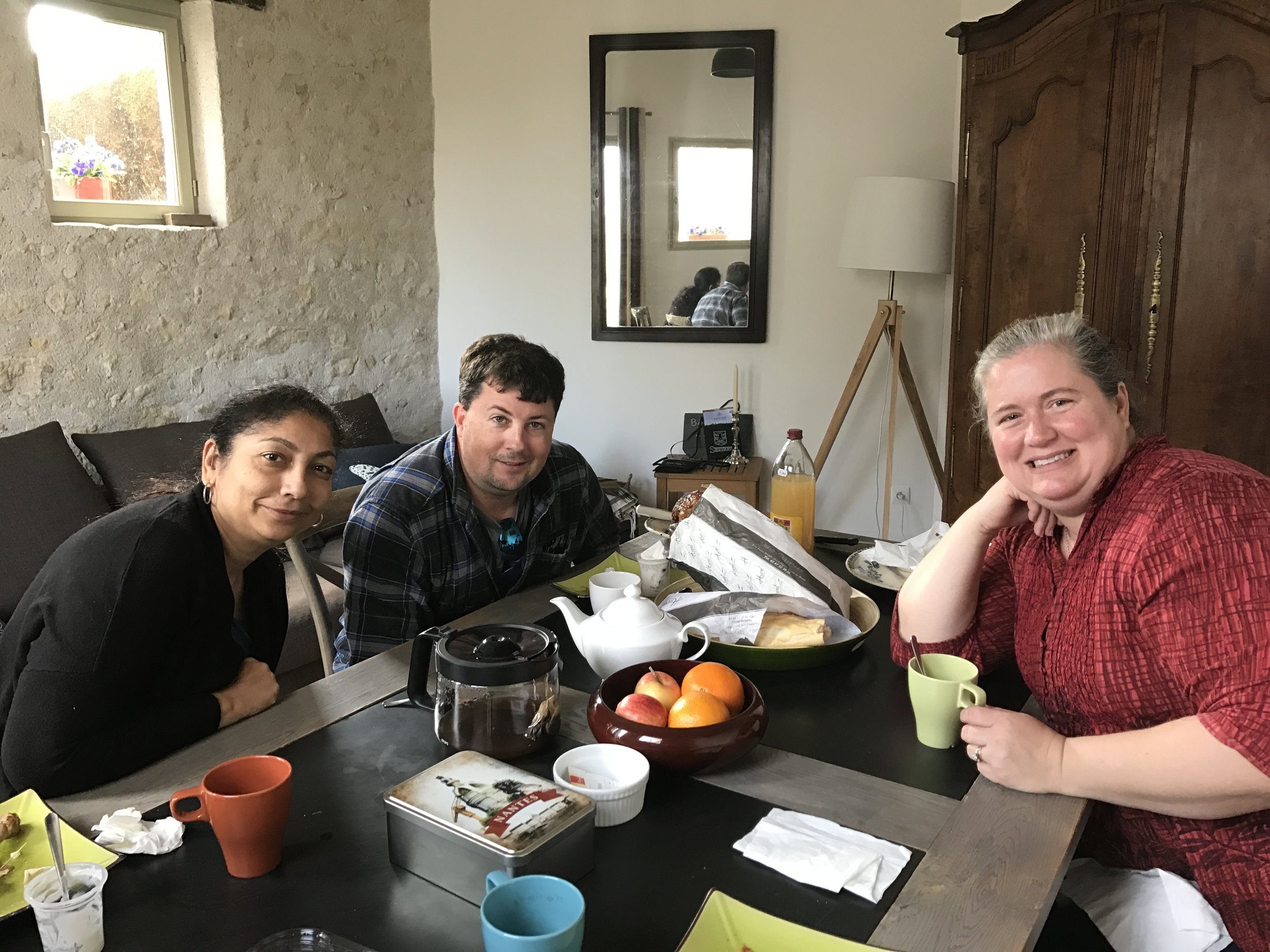 Shaka, Laura, and Jeff at breakfast