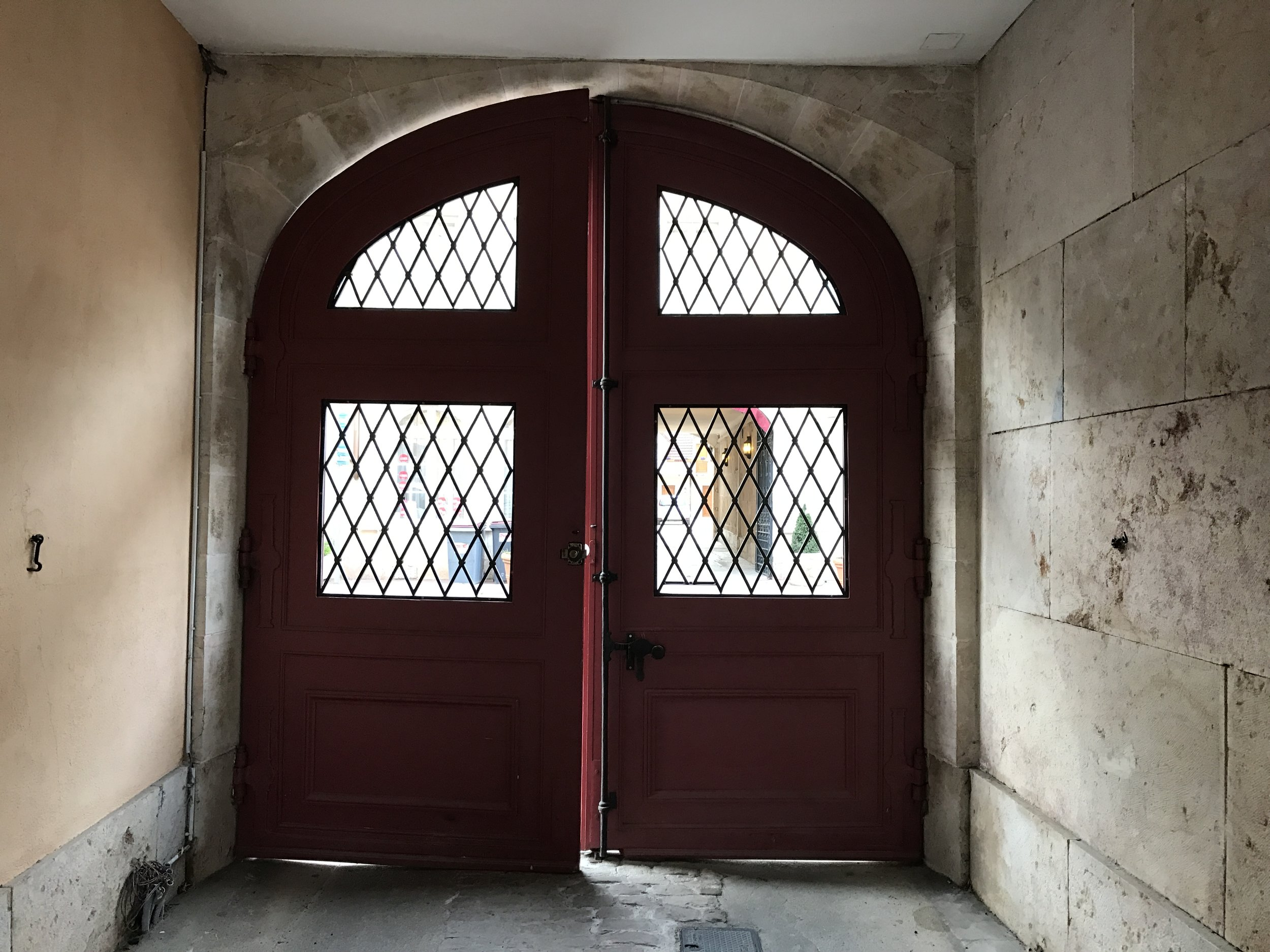 The gates to the flat in Beaune