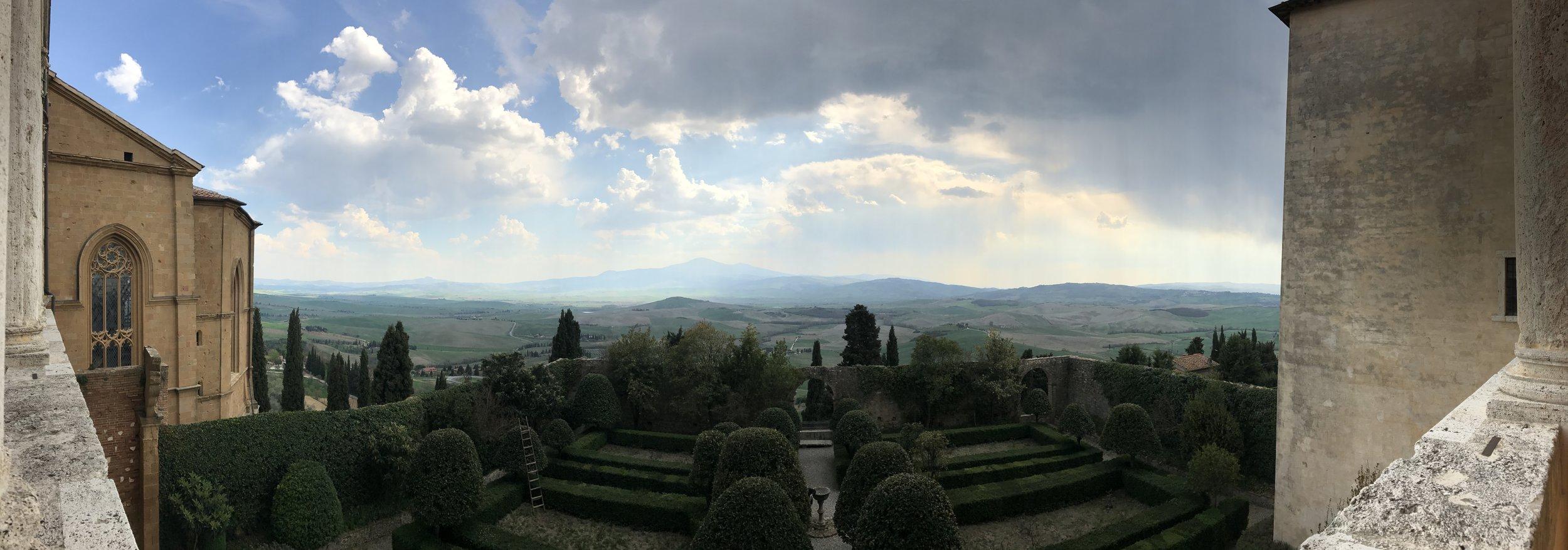 Panorama from la loggia di palazzo