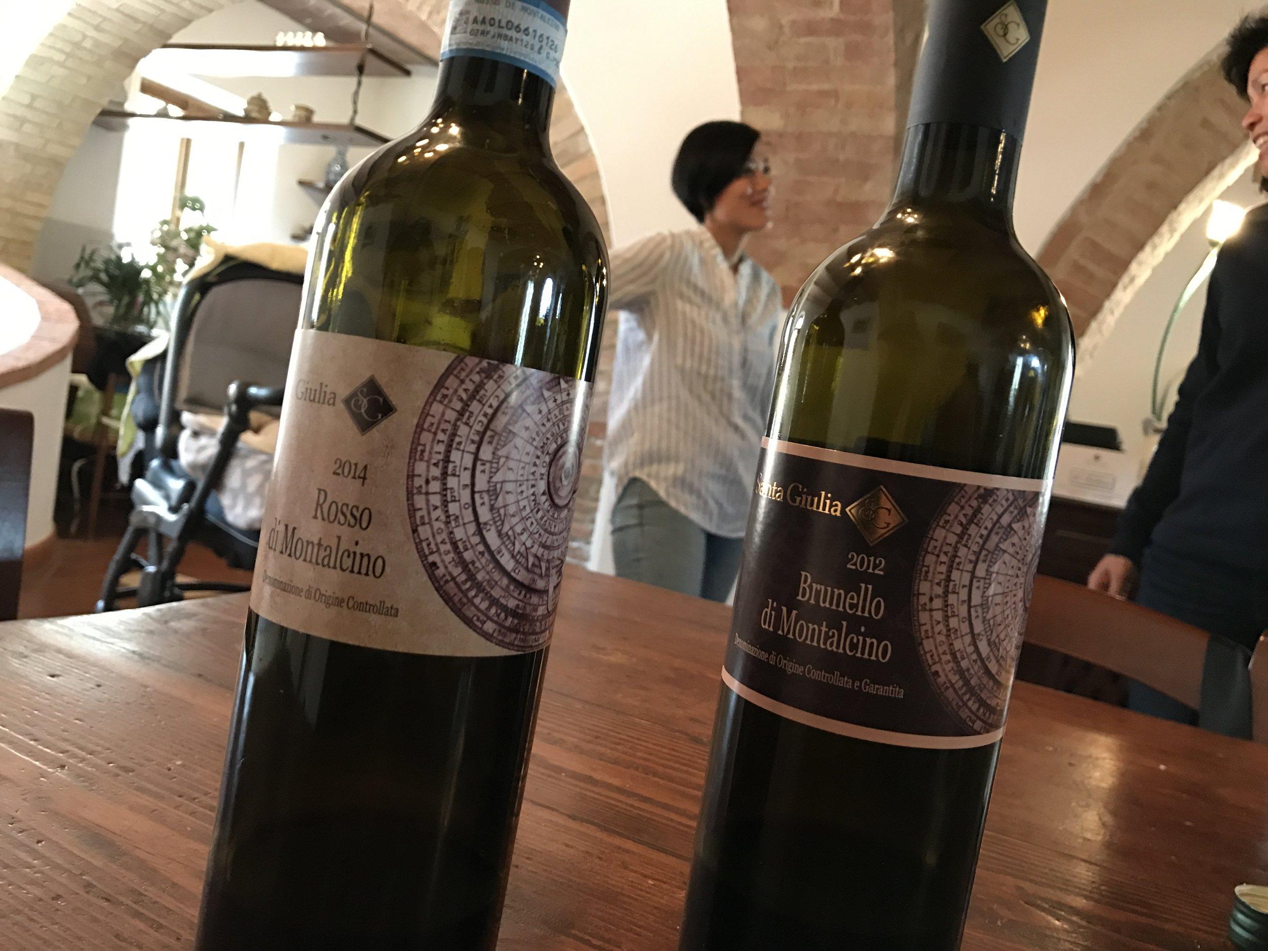 Kai and some incredible wine at Santa Giulia