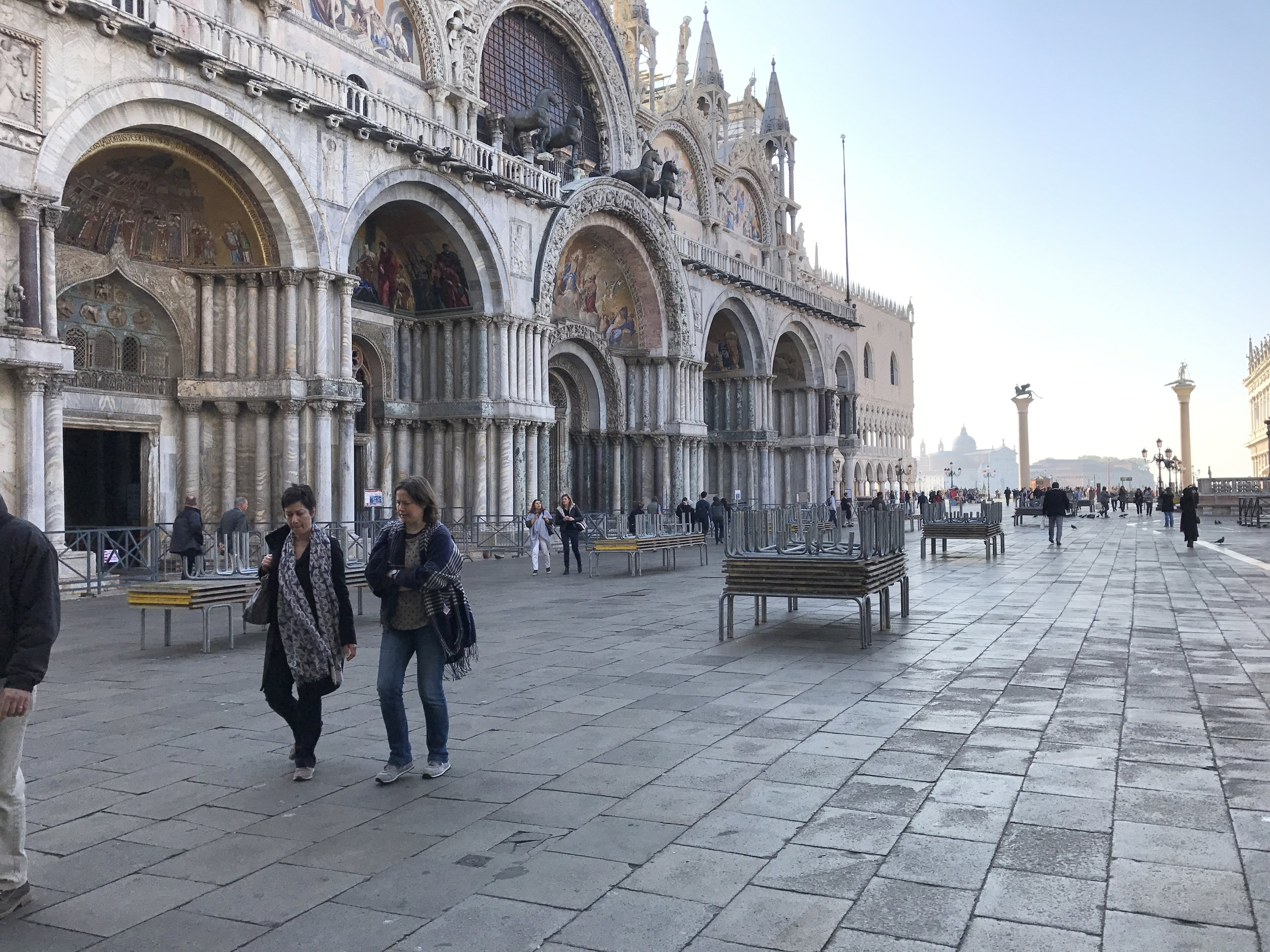 Piazza San Marco early morning. This place is packed elbow to elbow within a couple of hours.