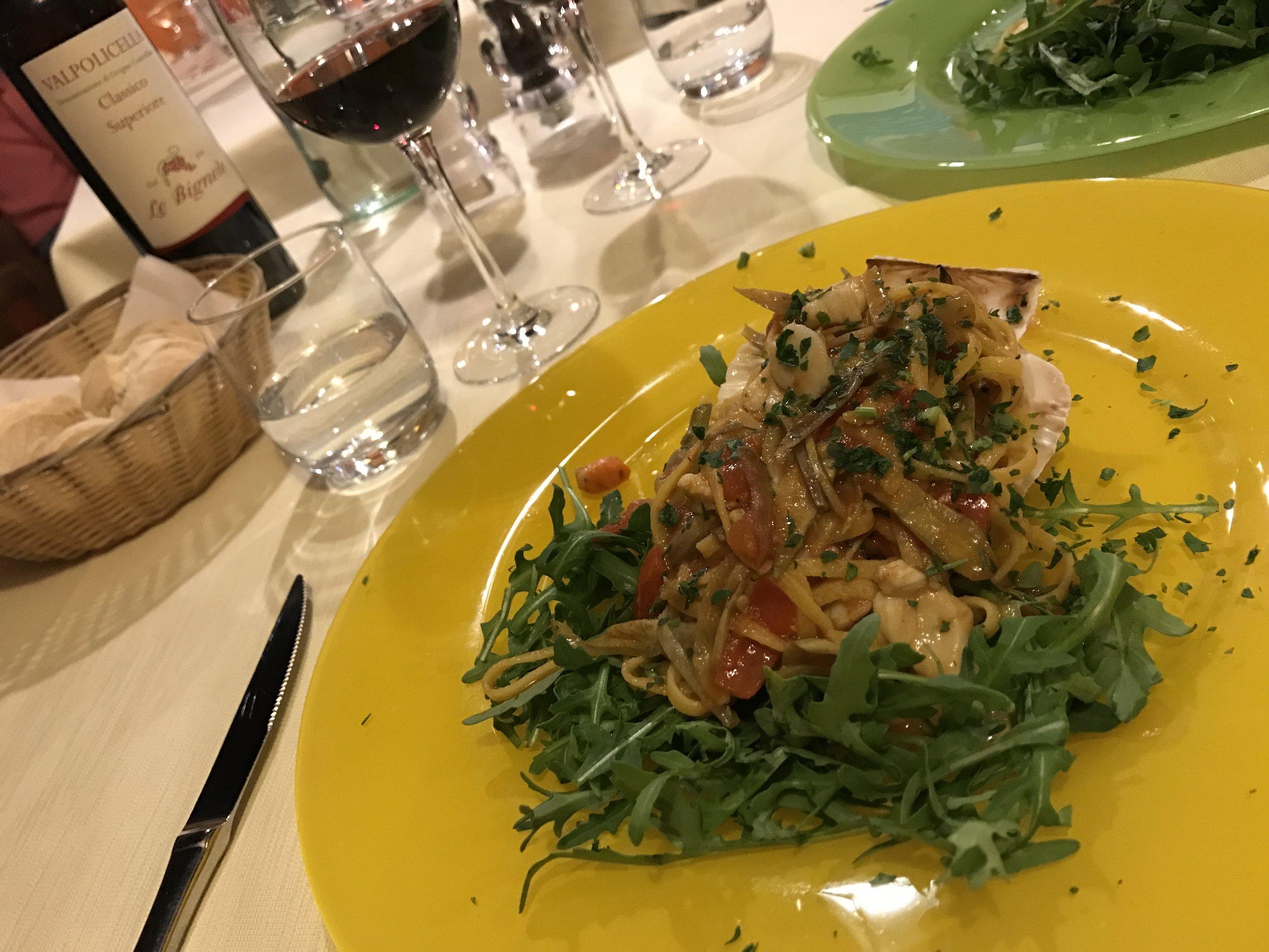 Valpolicella with a spot of supper at Osteria Antico Giardinia
