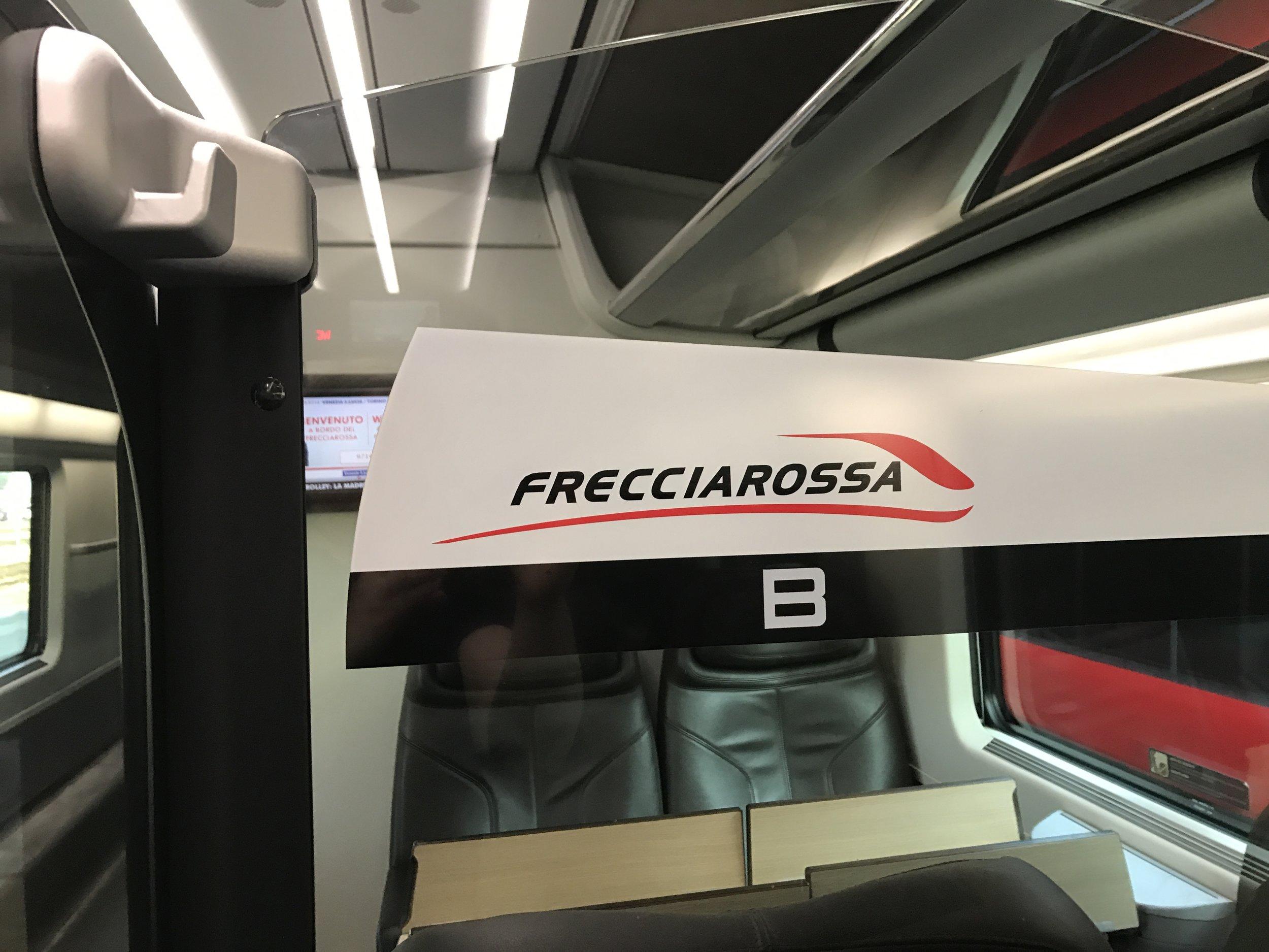 Frecciarossa from Venezia to Vincenza