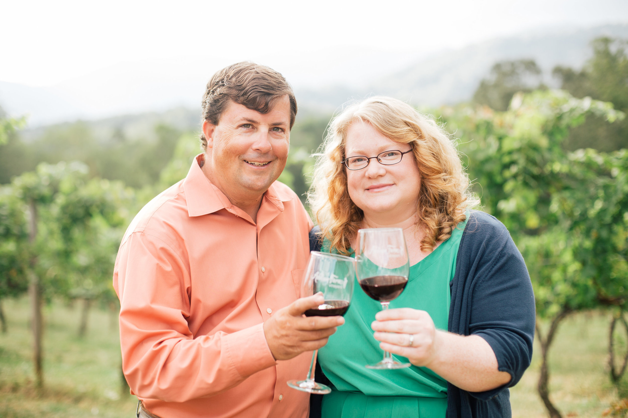 Winemaker, Jeff Frisbee with his wife Dianne