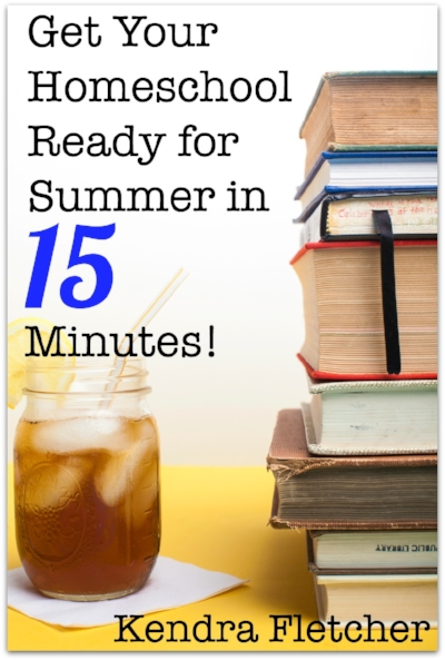 It's true! - In just 15 minutes each day for 5 days, you can have your homeschool wrapped up and put away so it doesn't hang over your head for the whole summer.