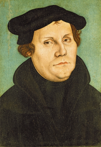 This is the classic painting of Martin Luther. Imagine living in a time when there were no selfies!