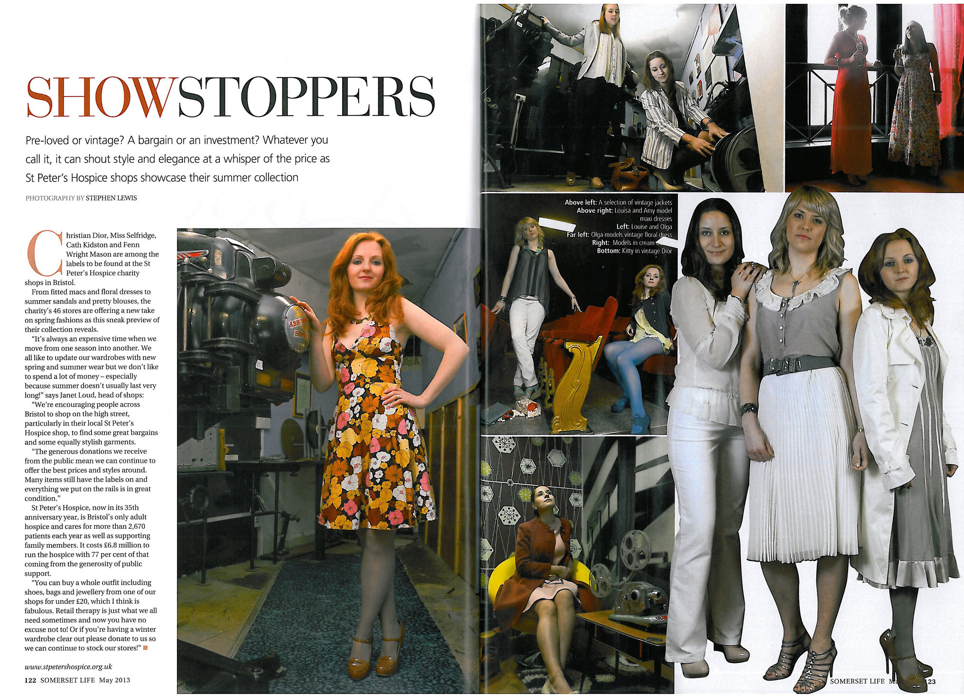 Somerset Life Magazine coverage April 2013