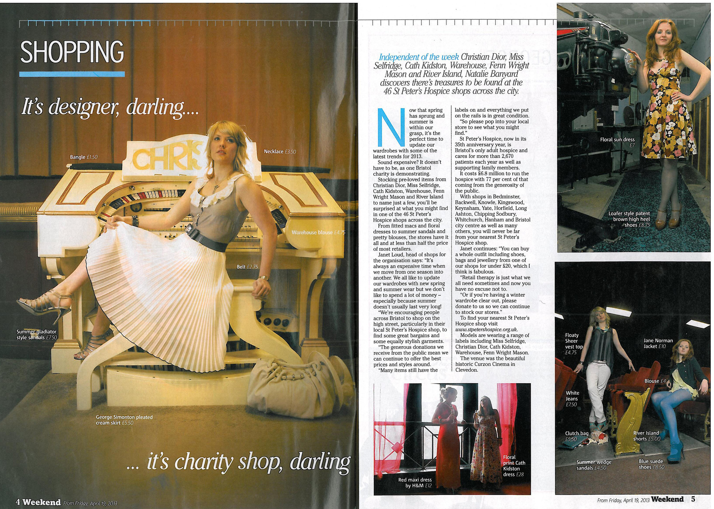 Bristol Post Weekend Magazine Coverage 19th April 2013
