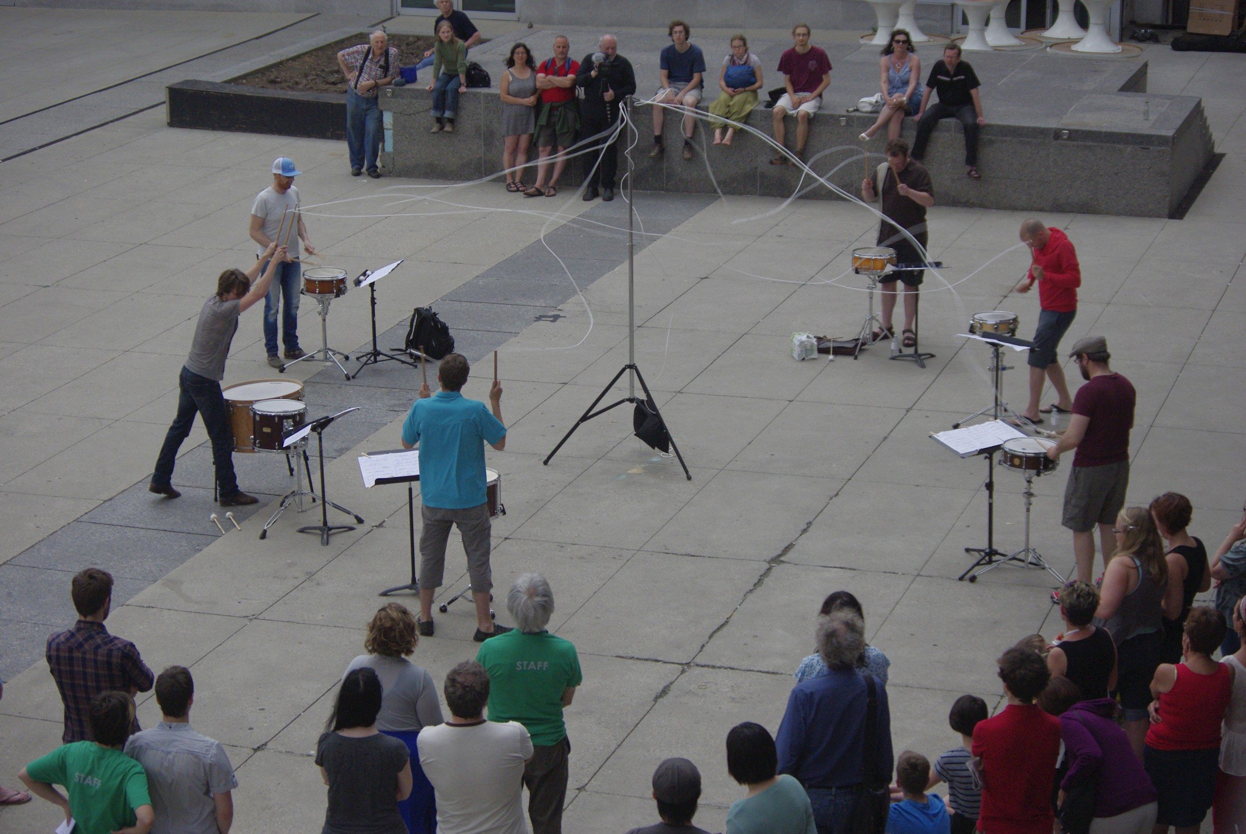 BTE13: Strings Attached - Kitchener Civic Square : photo by Phil Bast
