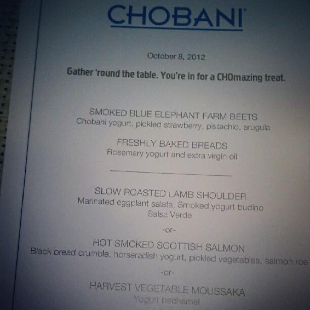 chobani dinner