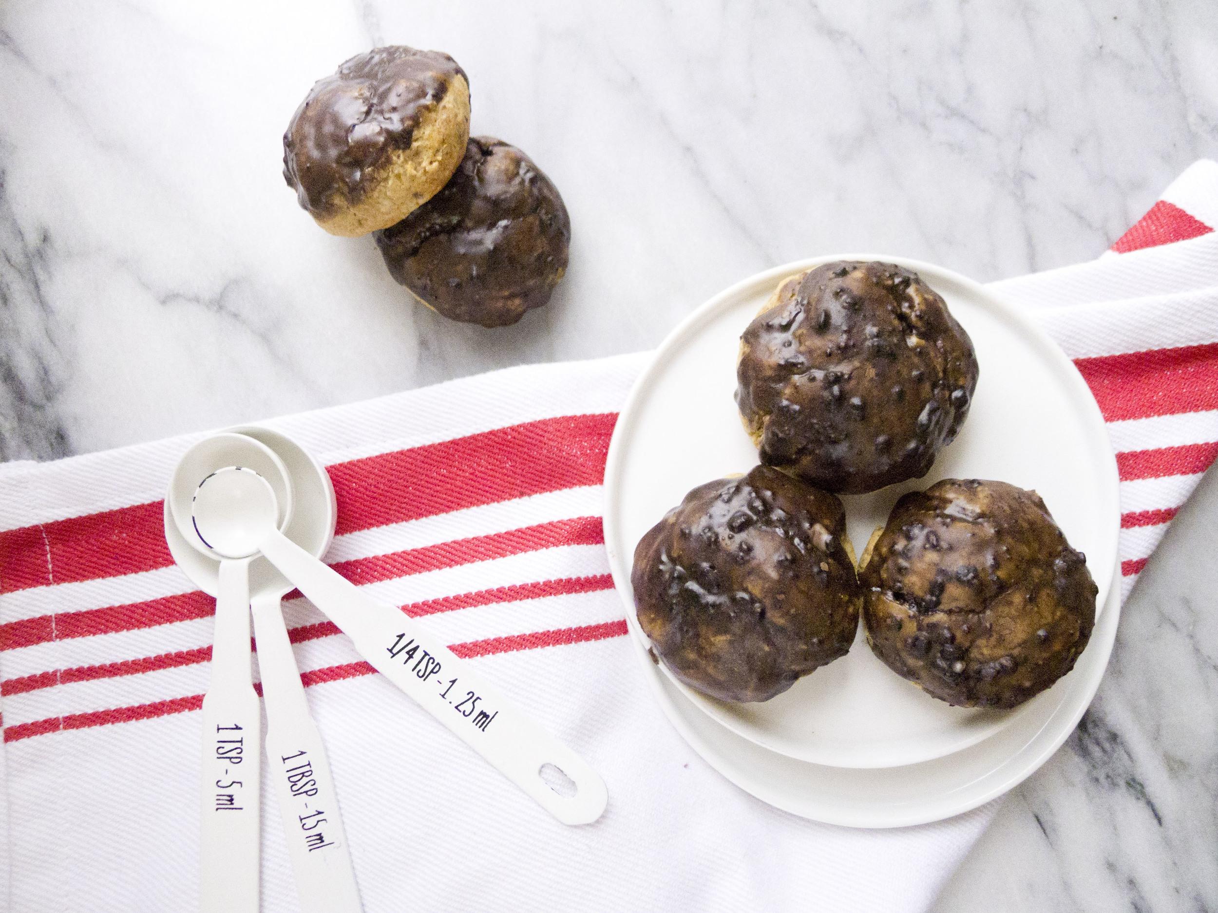 chocolate glazed monk fruit cookies