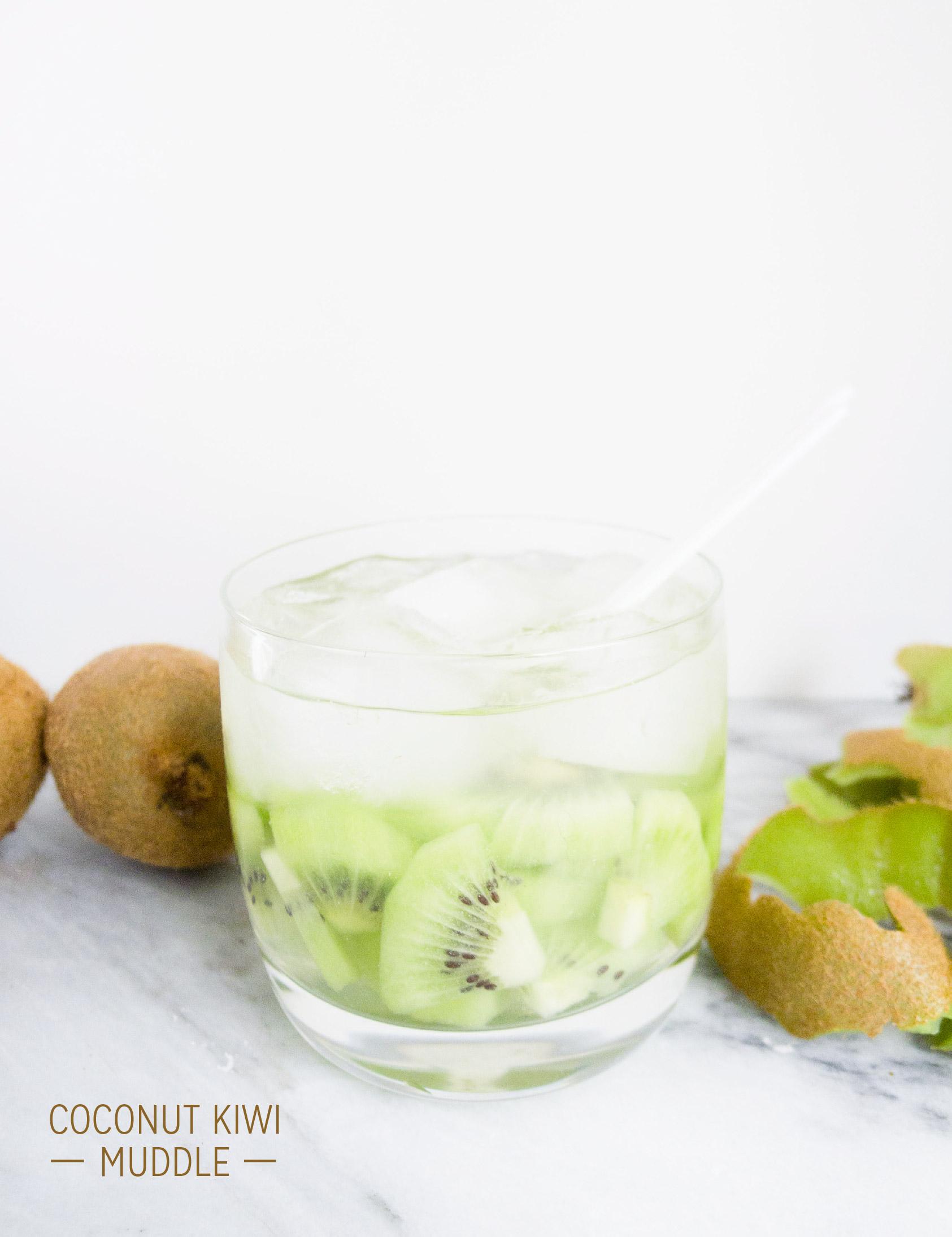 clean cocktails: coconut kiwi muddle e