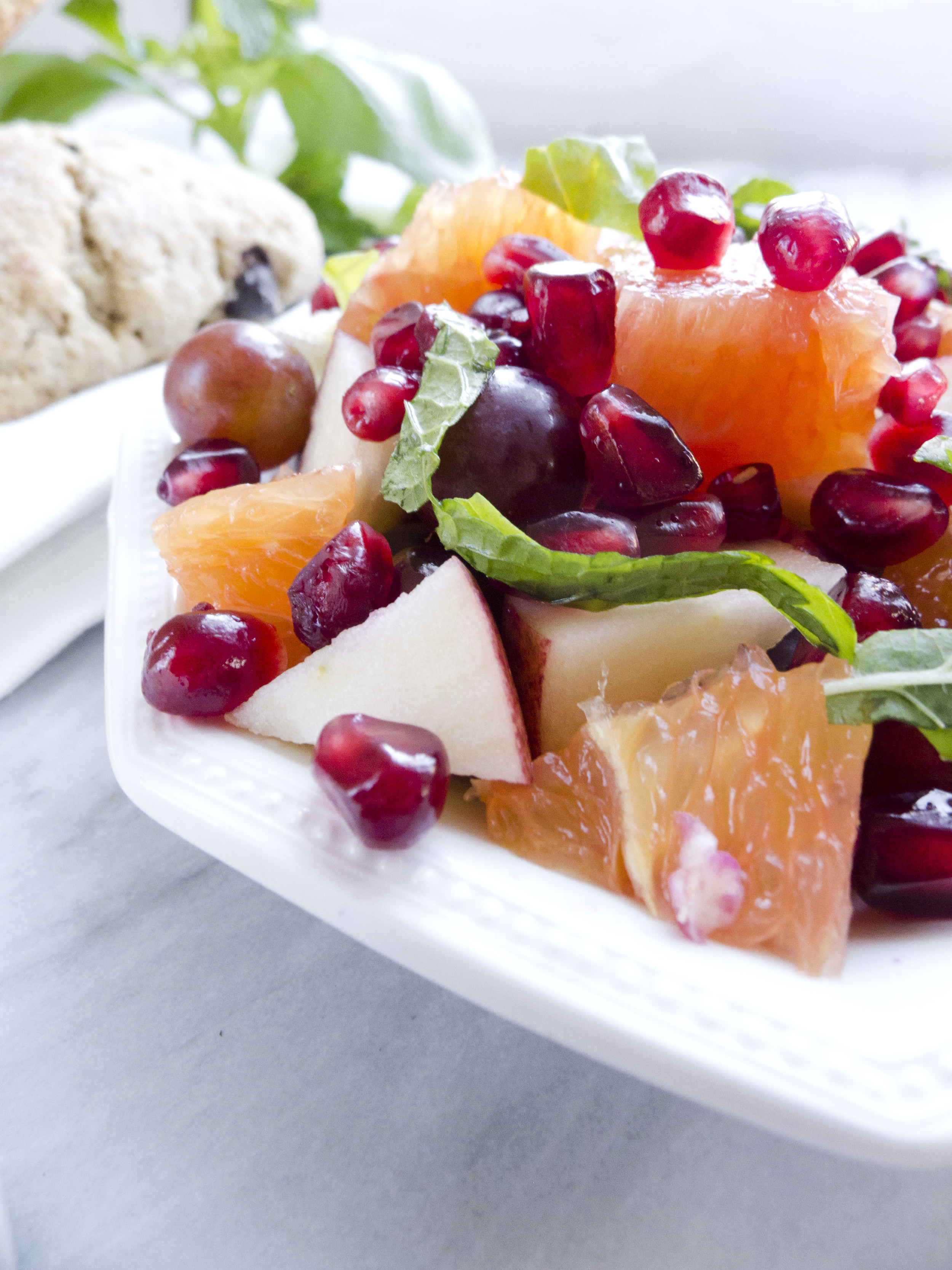 pistachio pairings: brunch: winter fruit herb salad