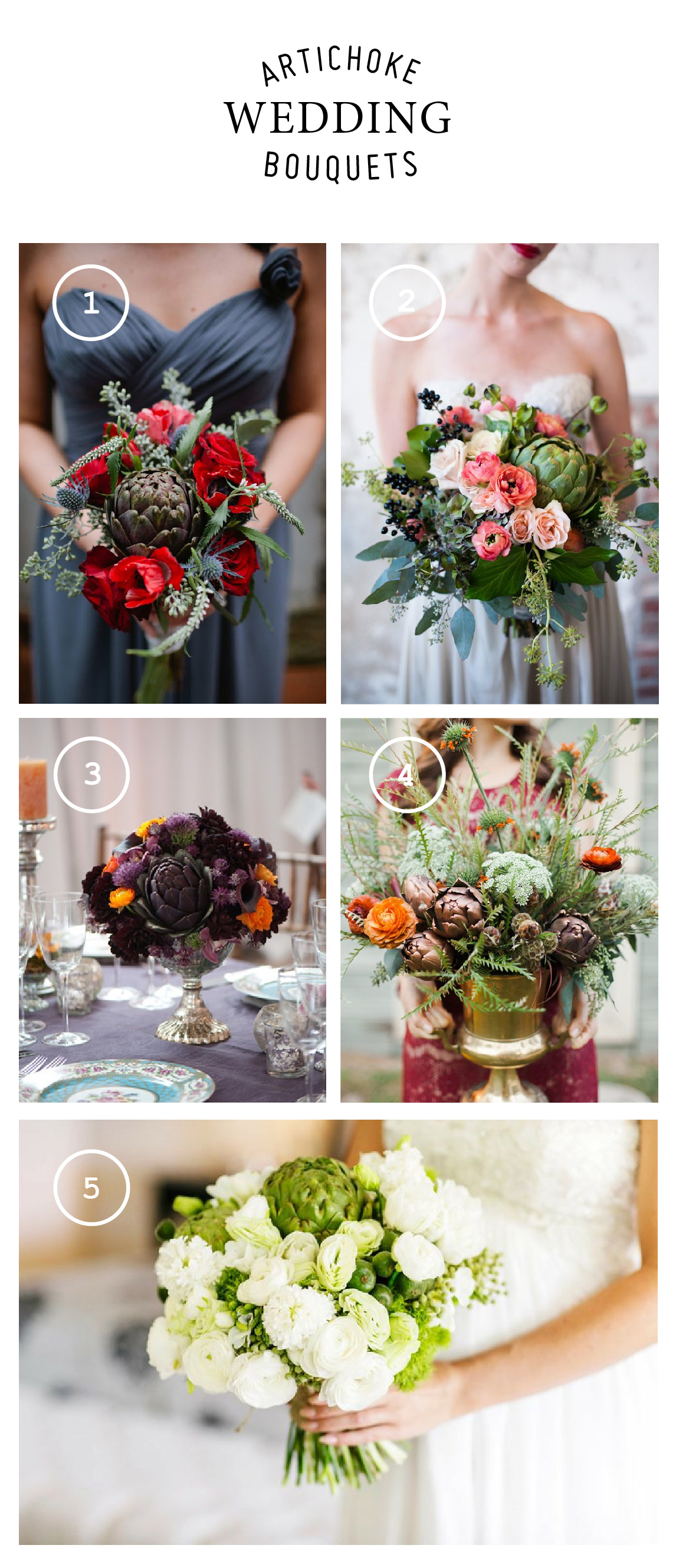 artichokes in wedding bouquets