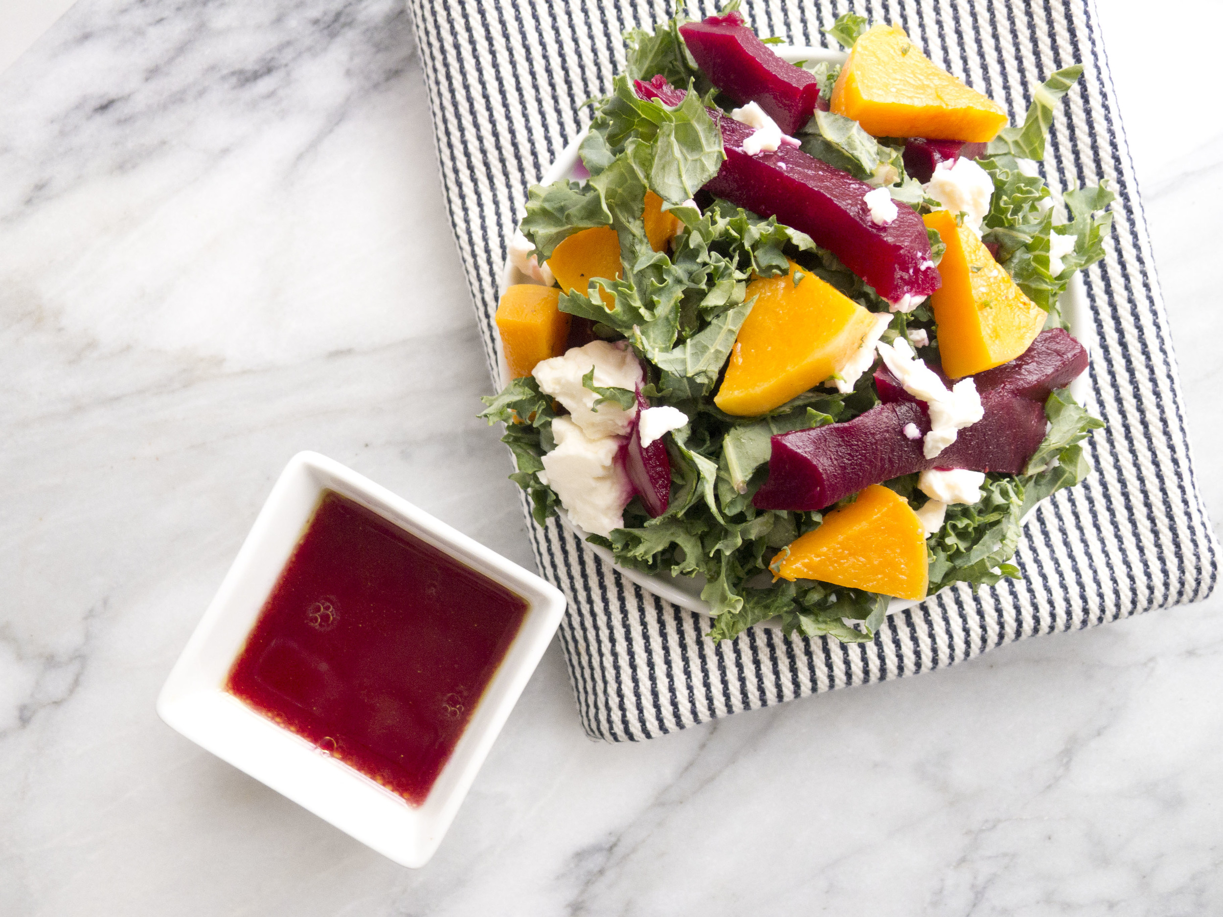 healthyWinter Kale, Beet and Butternut Squash Salad