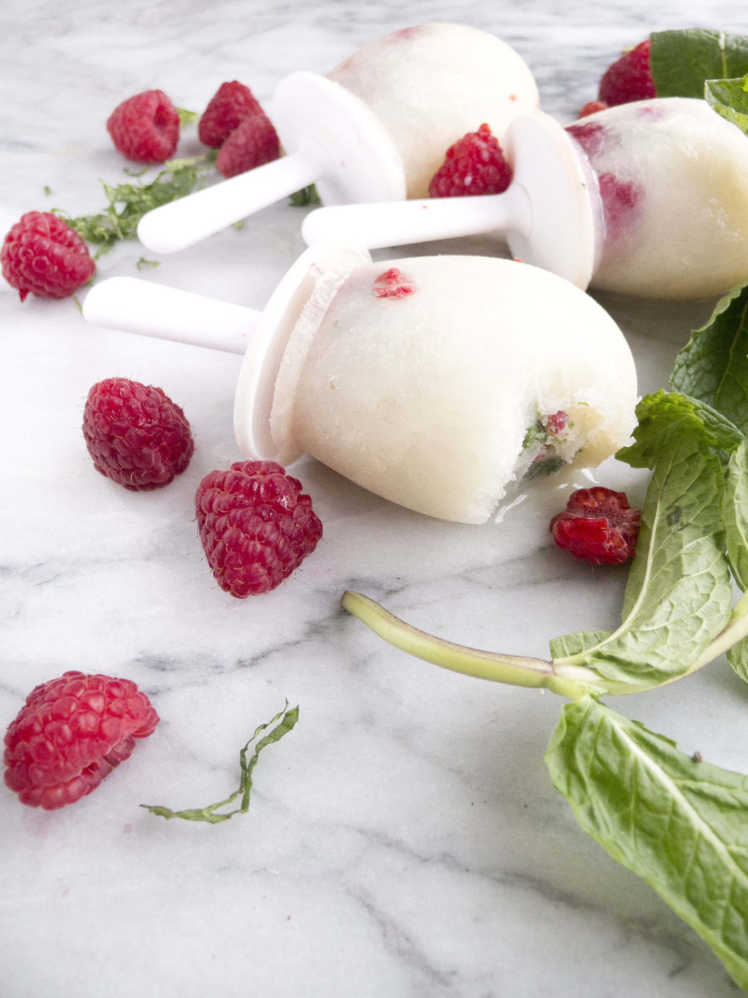 California Dairy low fat raspberry herb pops