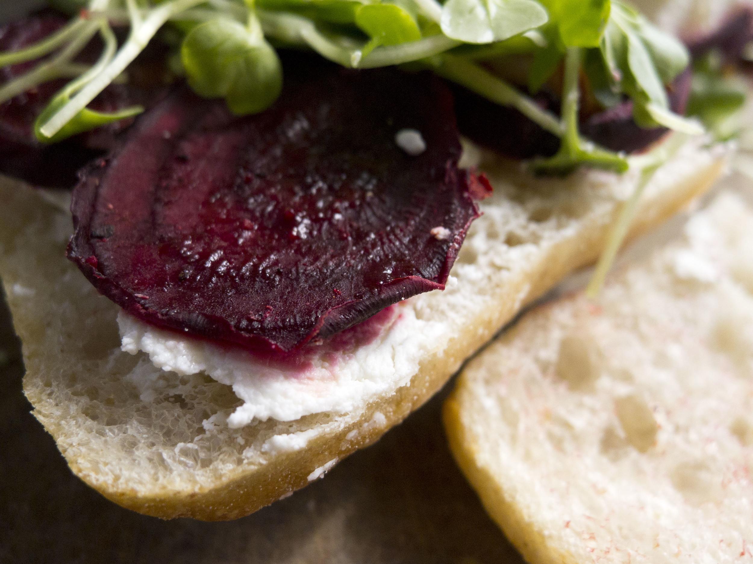 Spring Roasted Beet Sandwich