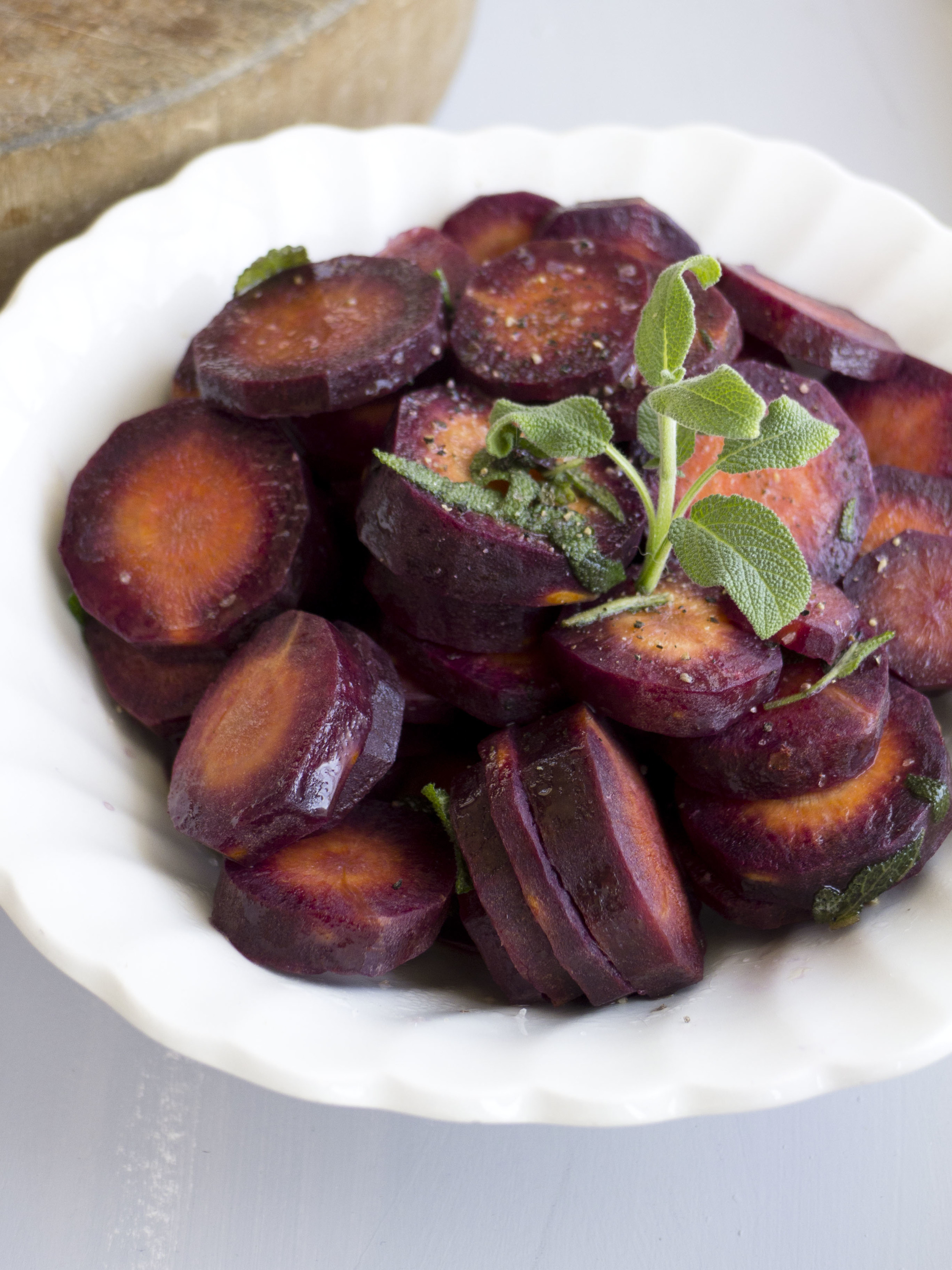 Maroon Carrots with Sage