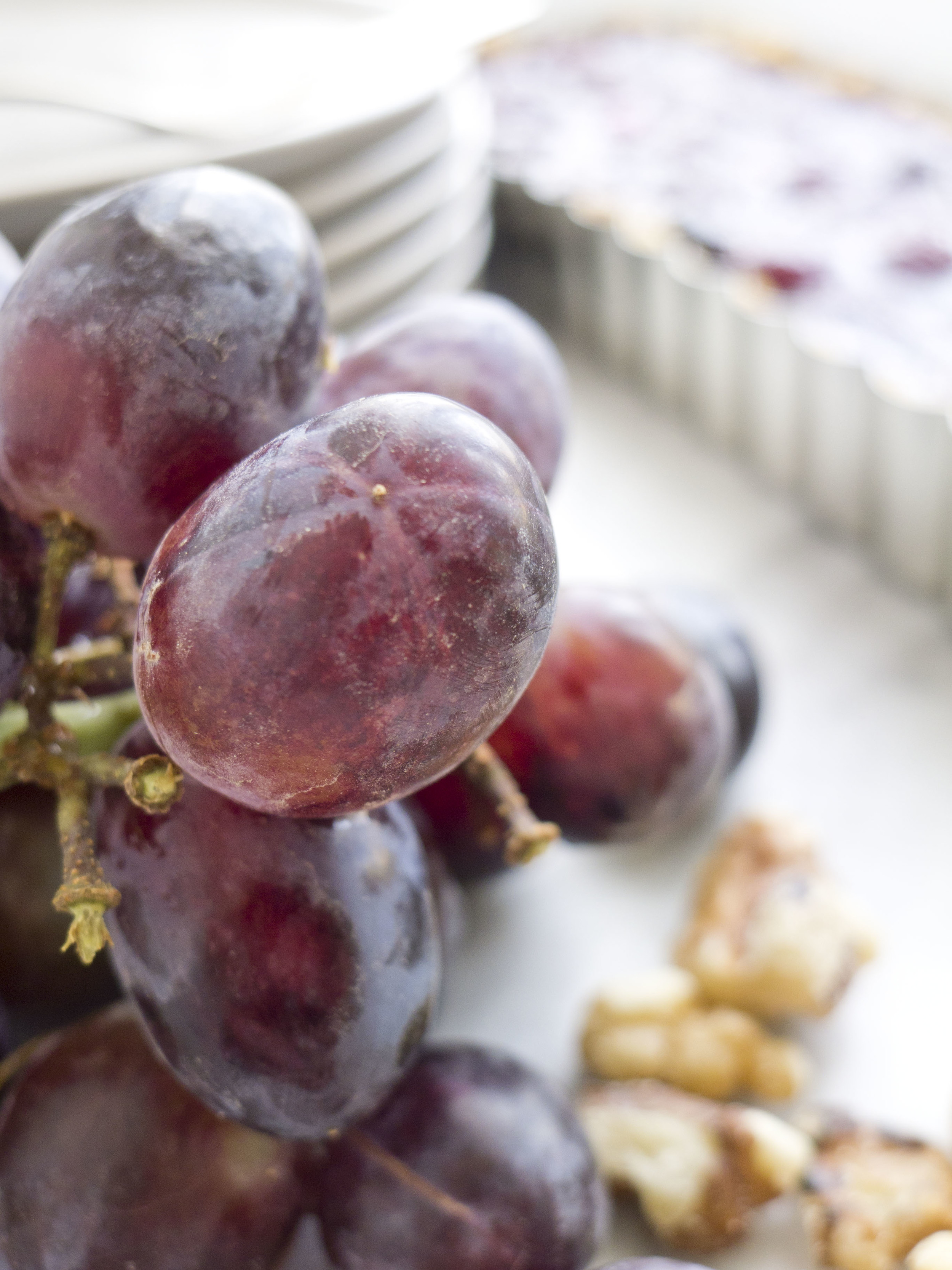 Grape Tart with Walnut Crust