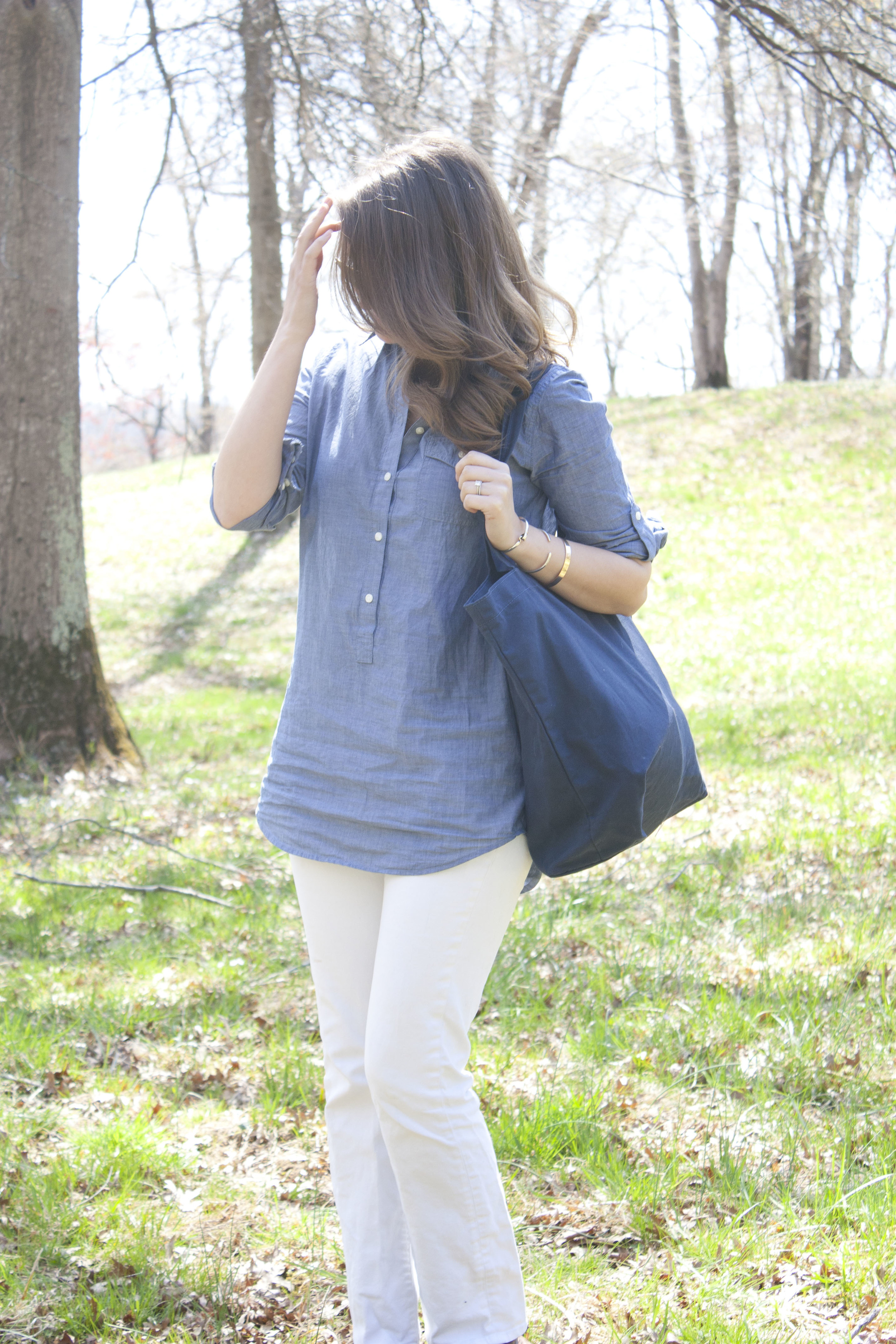 Outfit Post: Chambray and White