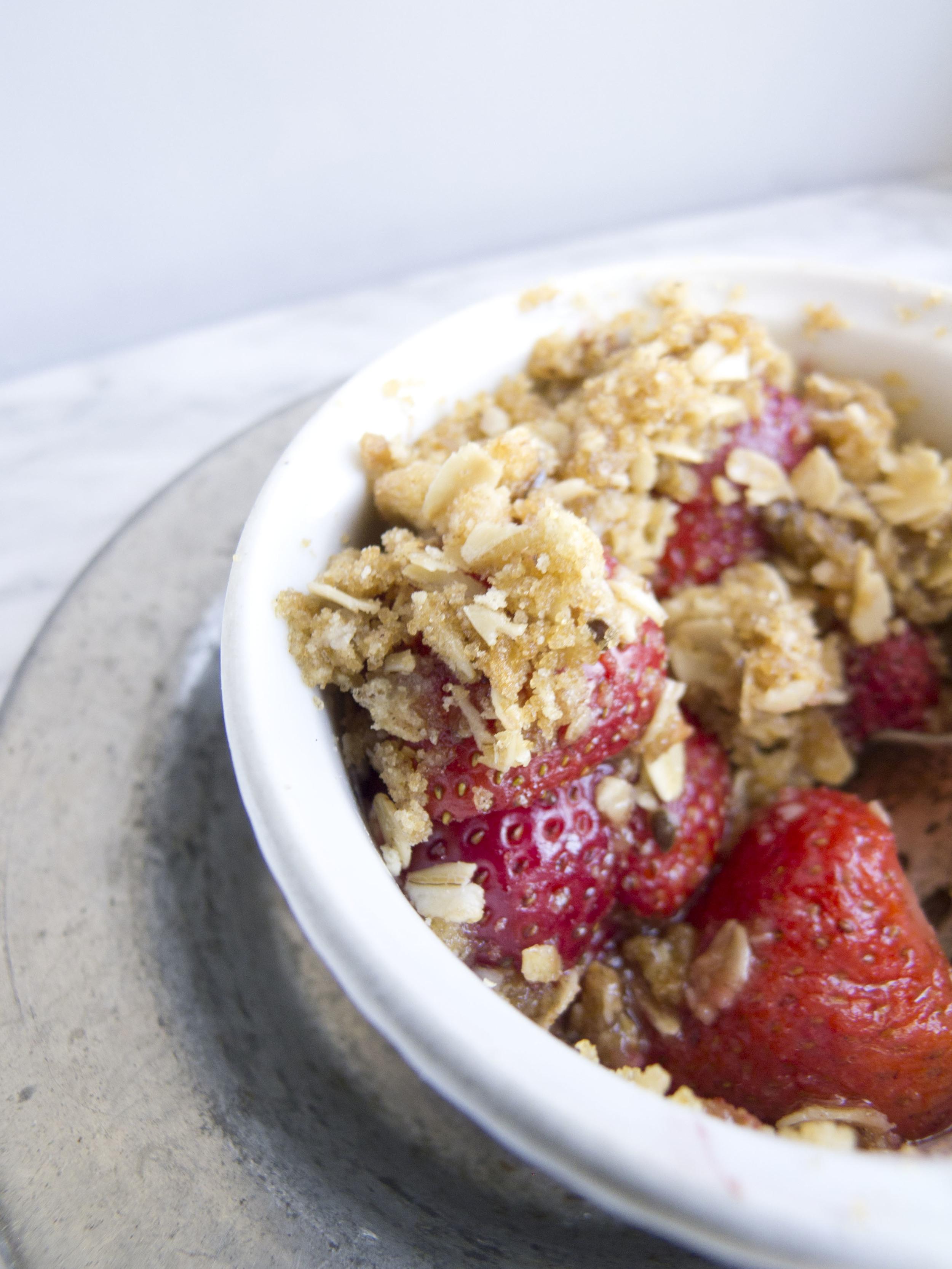 Gluten Free Strawberry Crumble