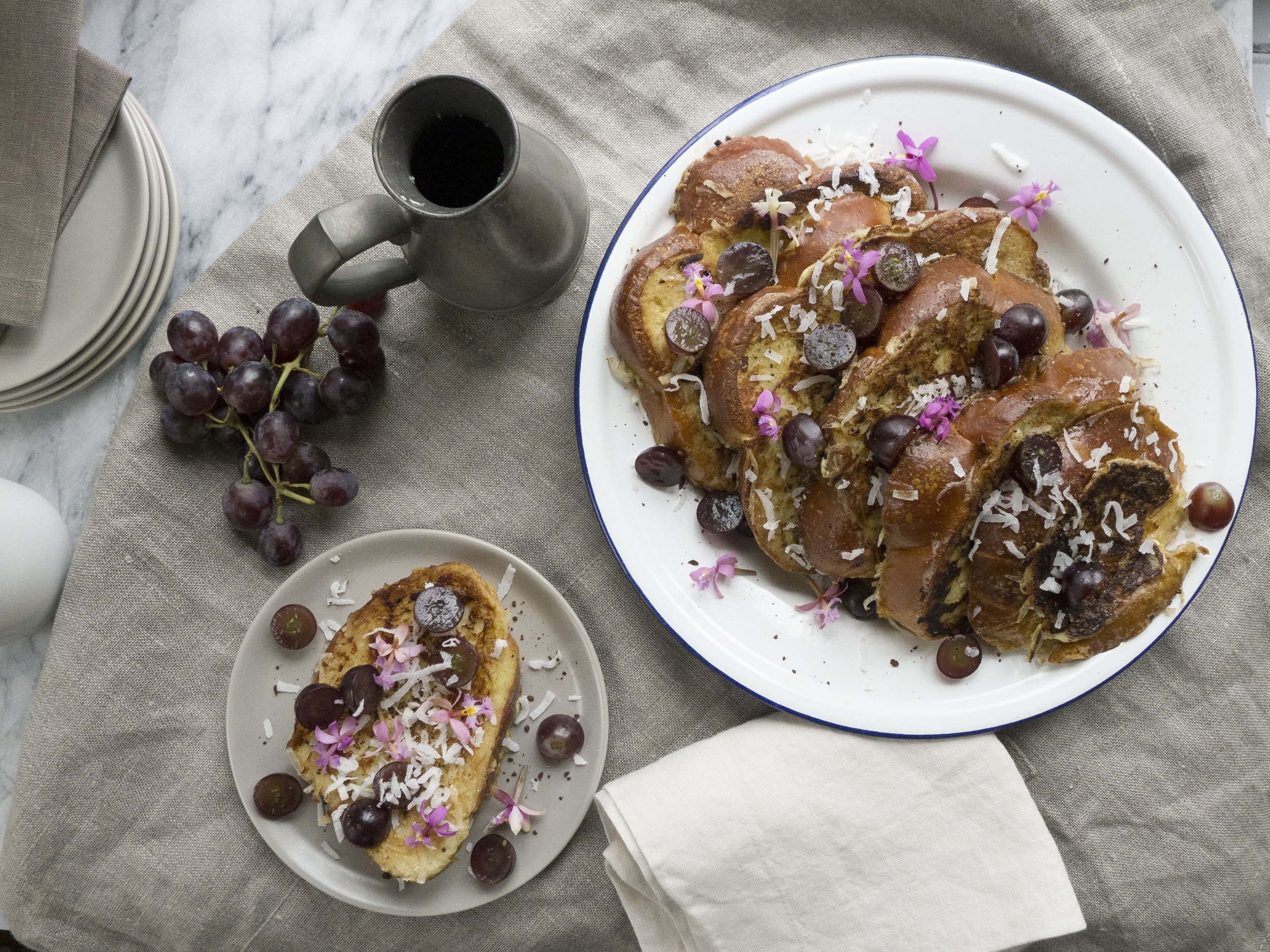 Challah Coconut French Toast