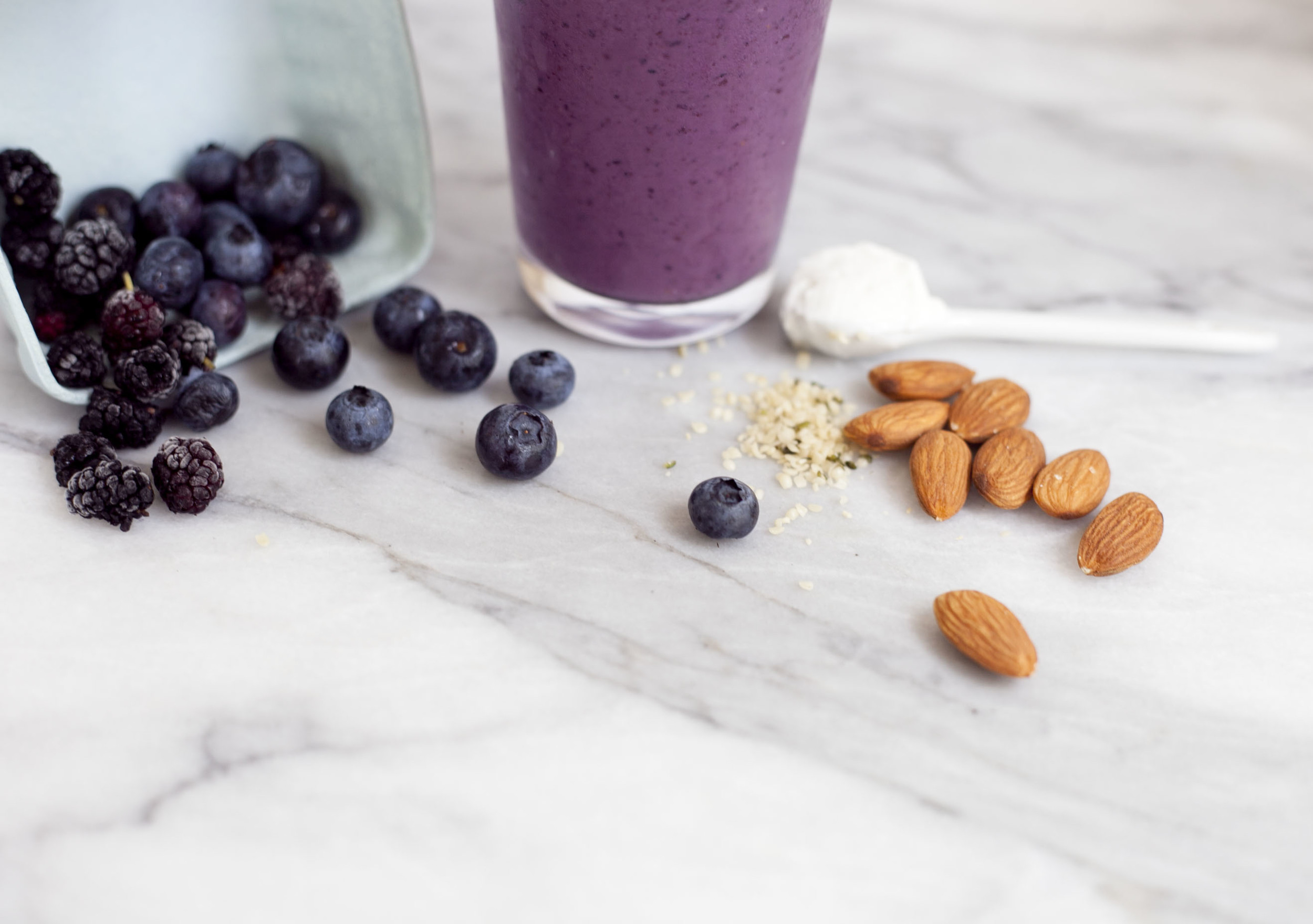 Beauty Booster Smoothie: Mulberry Hemp Seed
