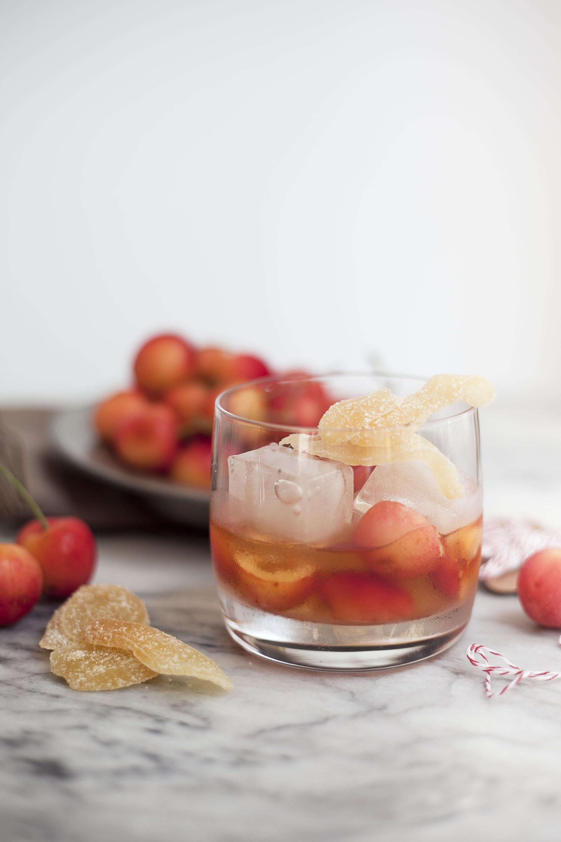 Healthier Cocktails: Bourbon Rainier Cherry Muddle