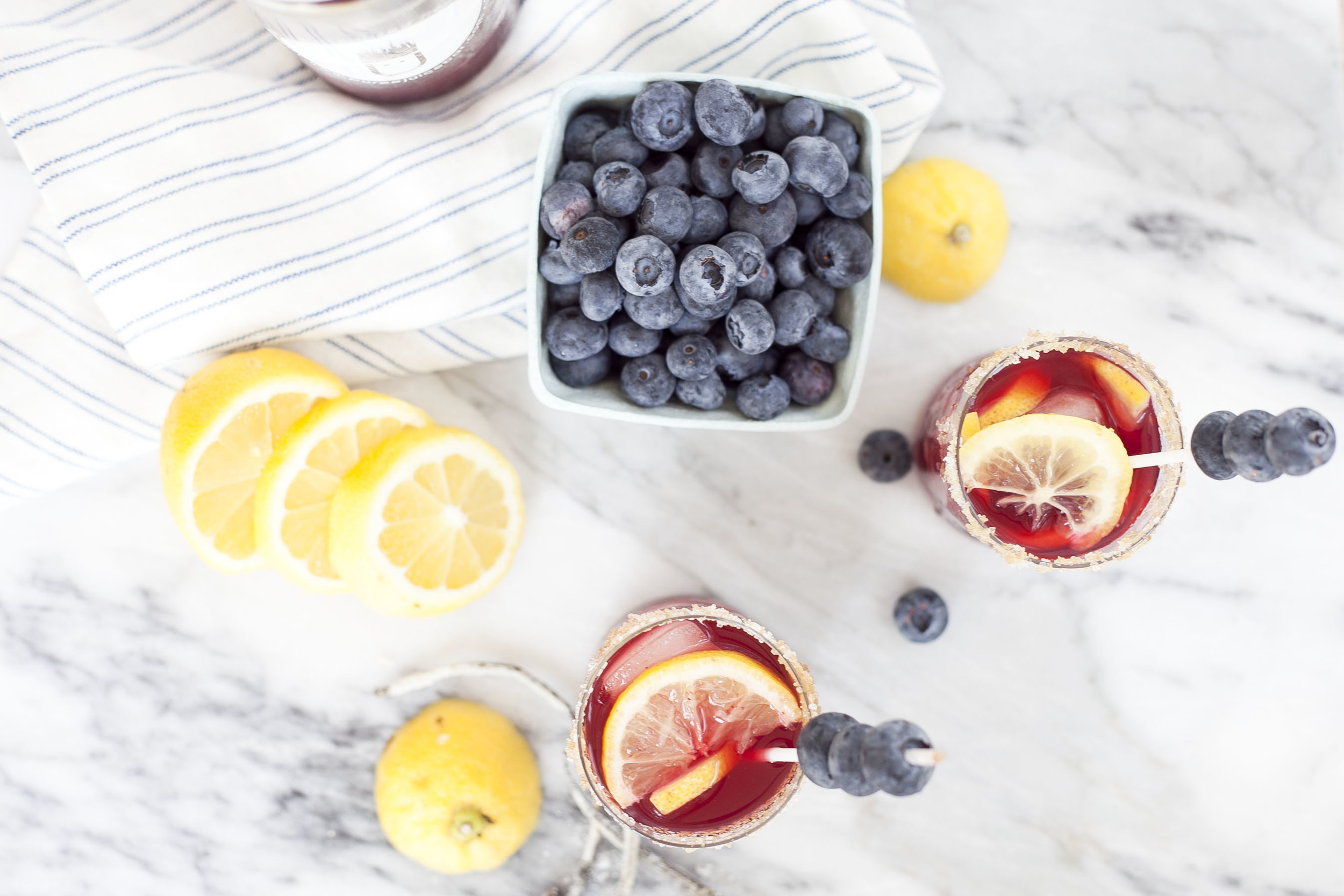 Pressed Juice Cocktail: Blueberry Cheesecake