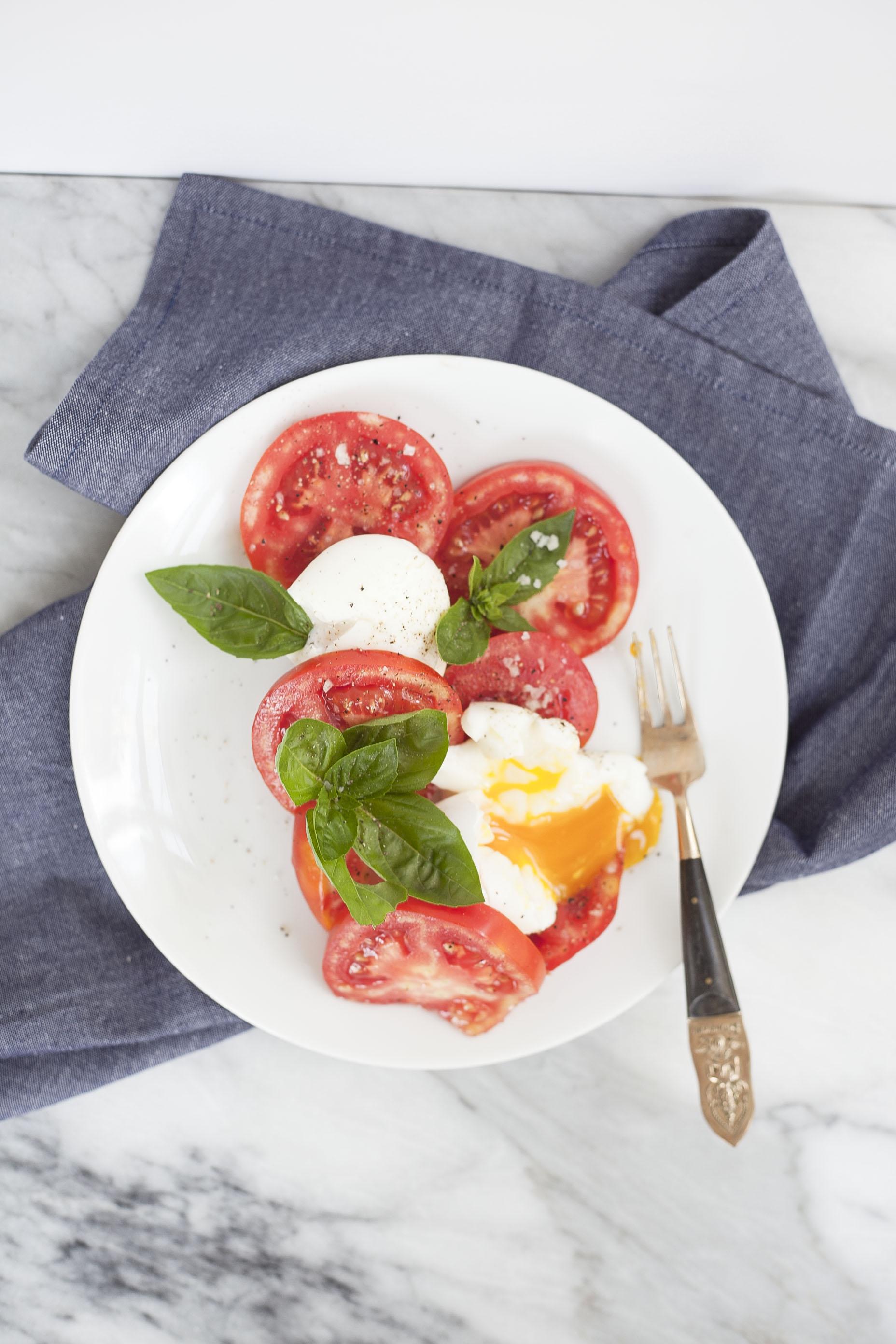 Breakfast Caprese Salad