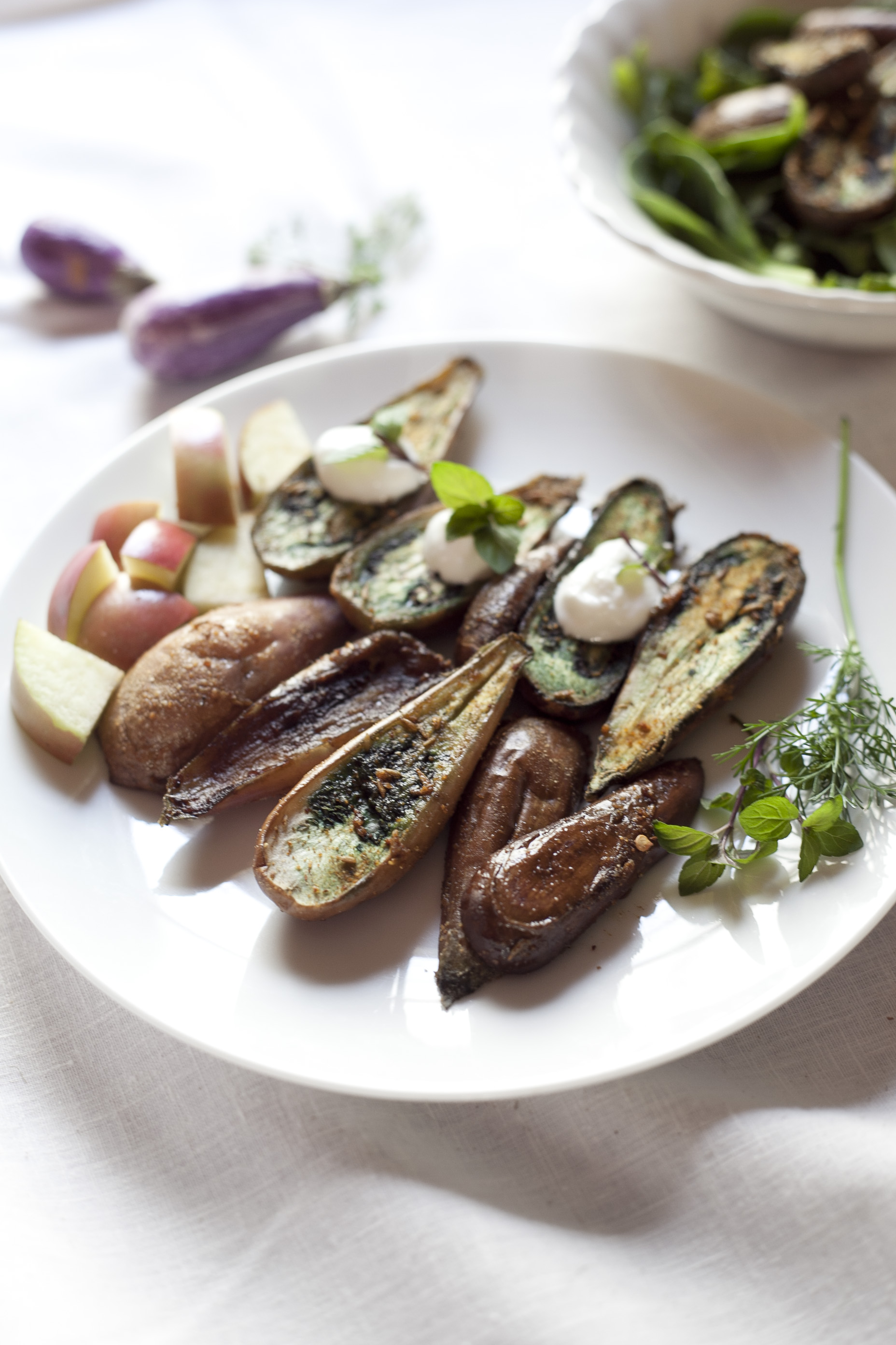 Curried Fairy Tale Eggplants