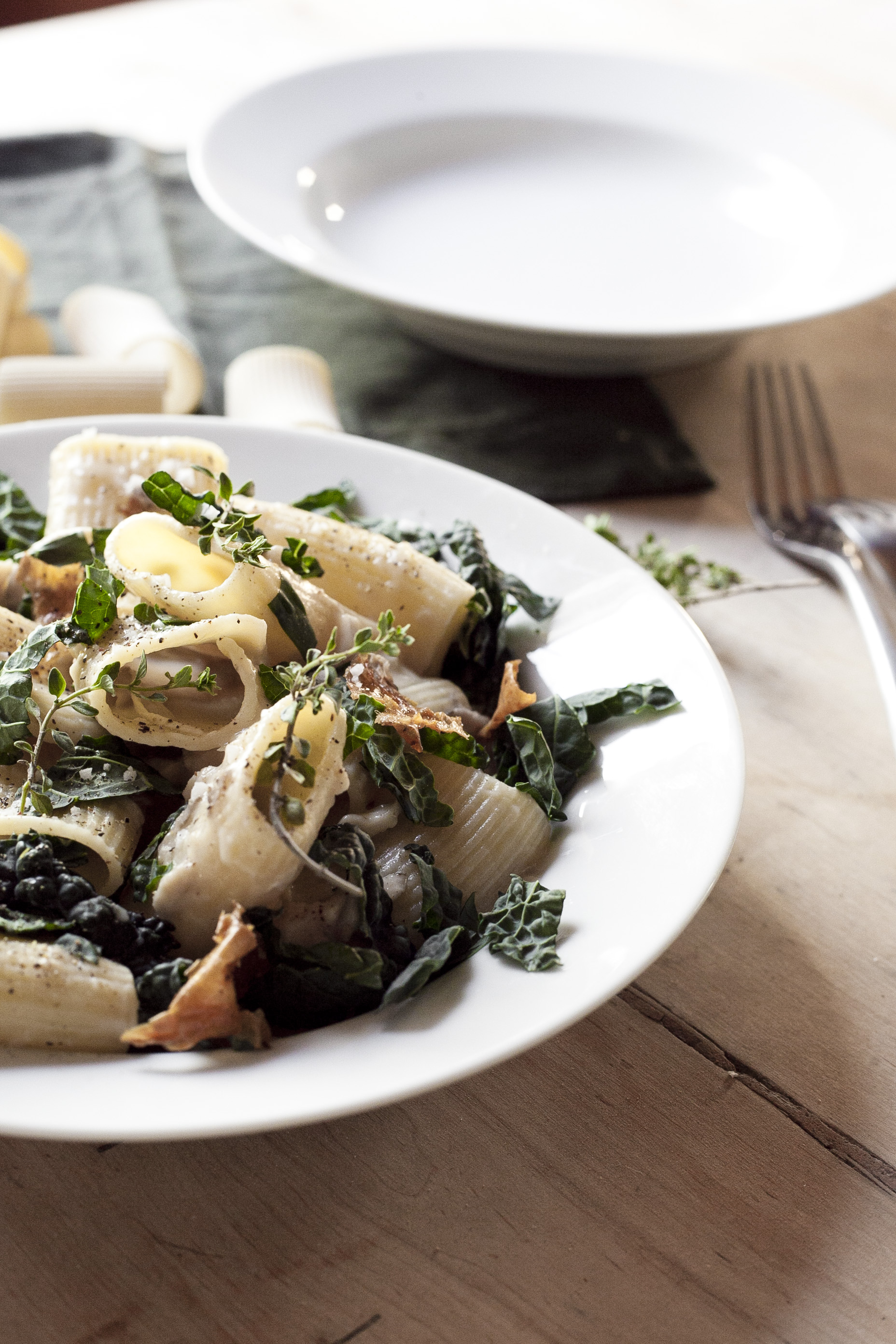 Light Chicken Mushroom Pasta