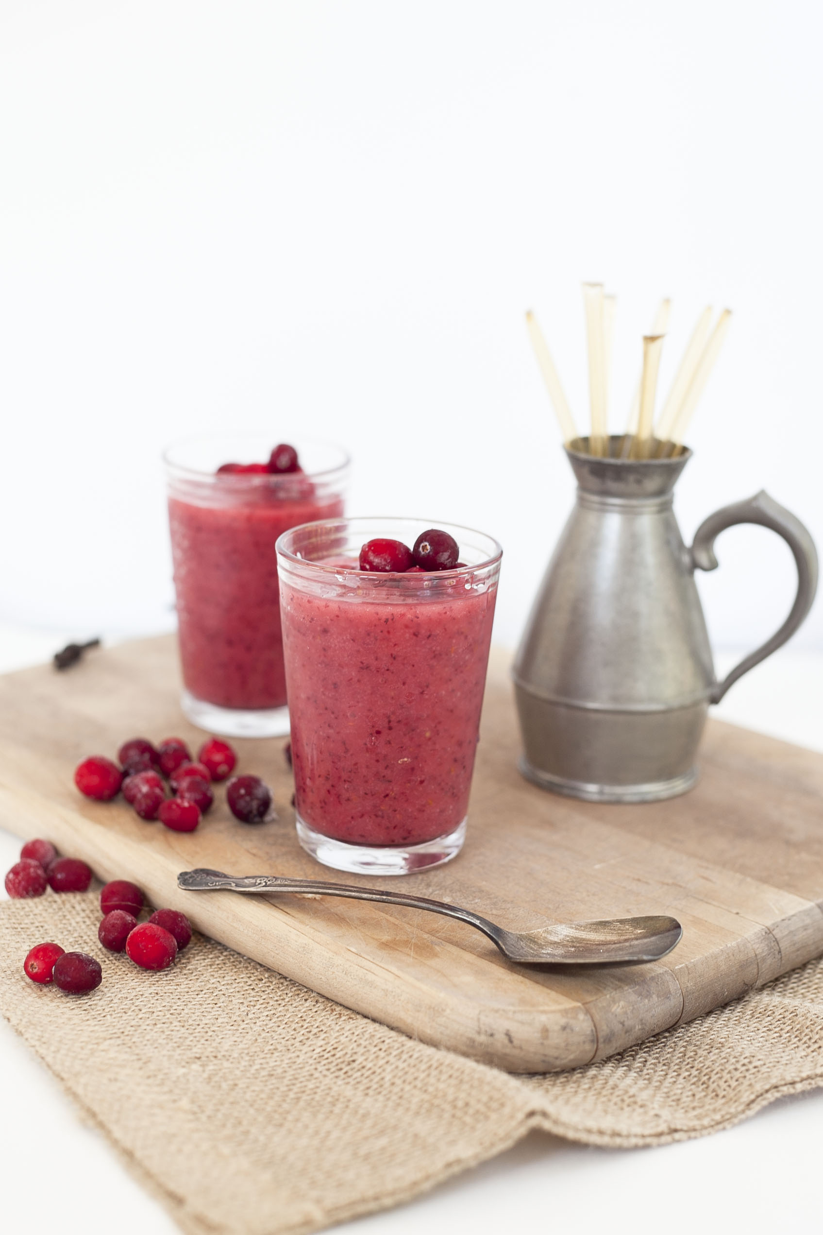 Beauty Booster Smoothie: Cranberry Thanksgiving Edition