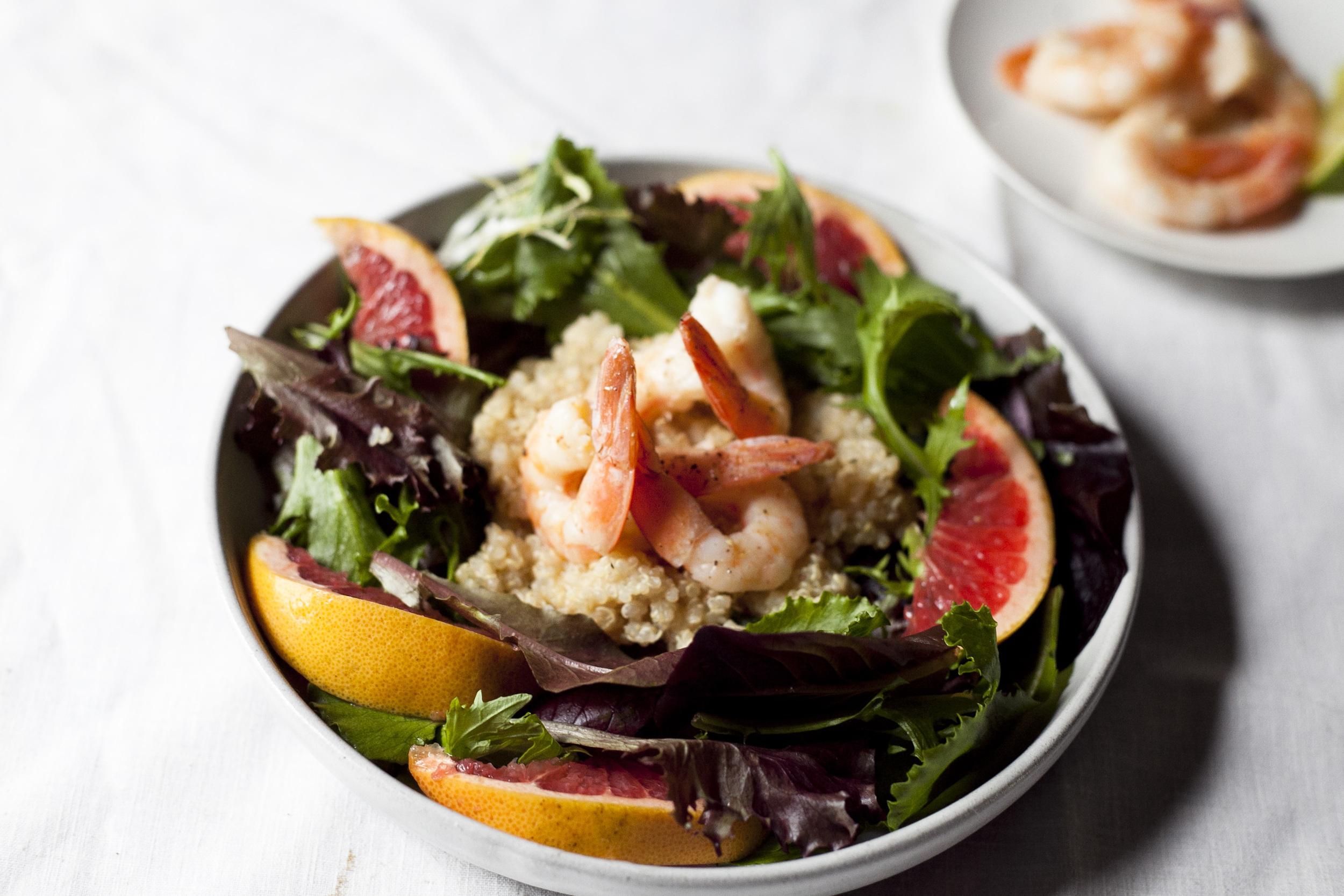 Chili Shrimp Quinoa Salad