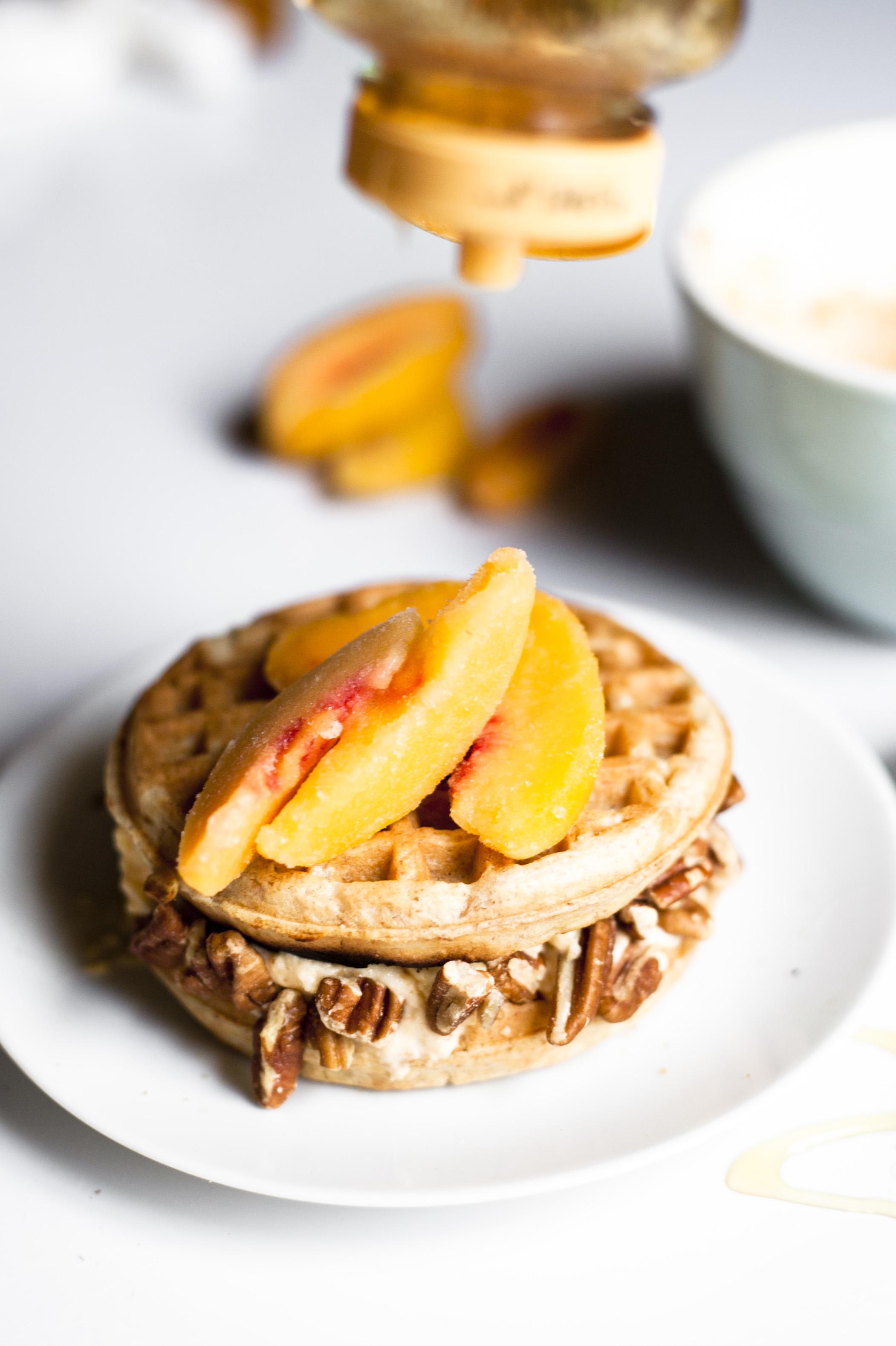 Healthy Southern Waffle Ice Cream Sandwich