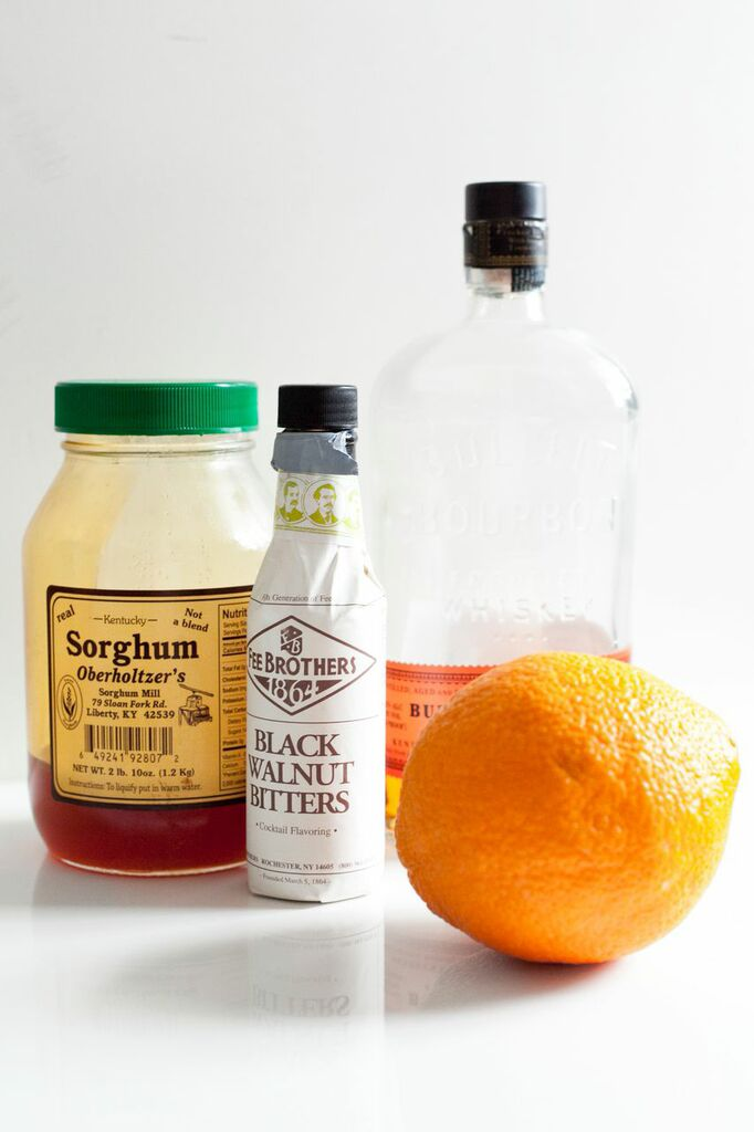 Spring Bourbon Whiskey Cocktail: Black Walnut Sorghum
