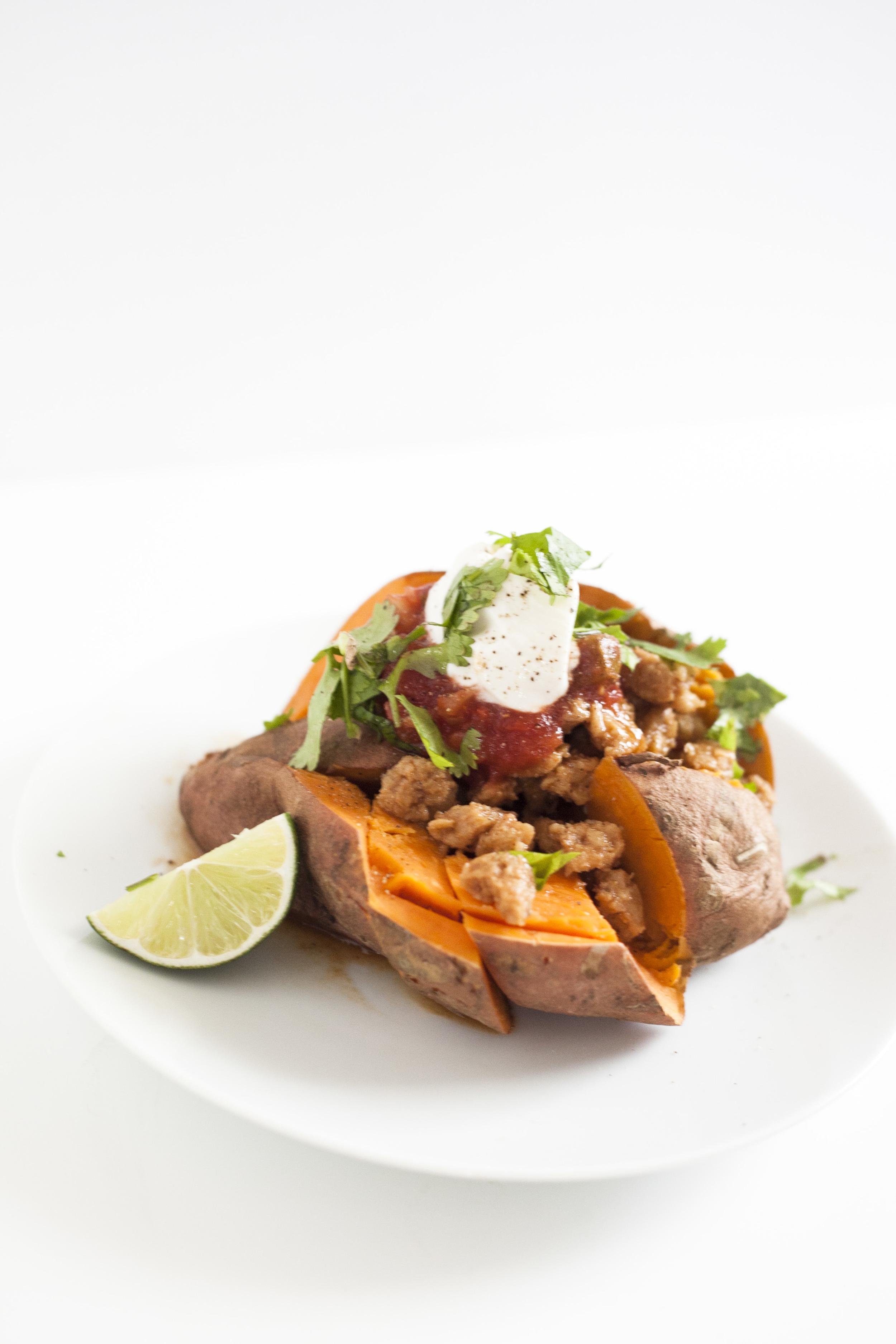 Soy Taco Stuffed Sweet Potatoes