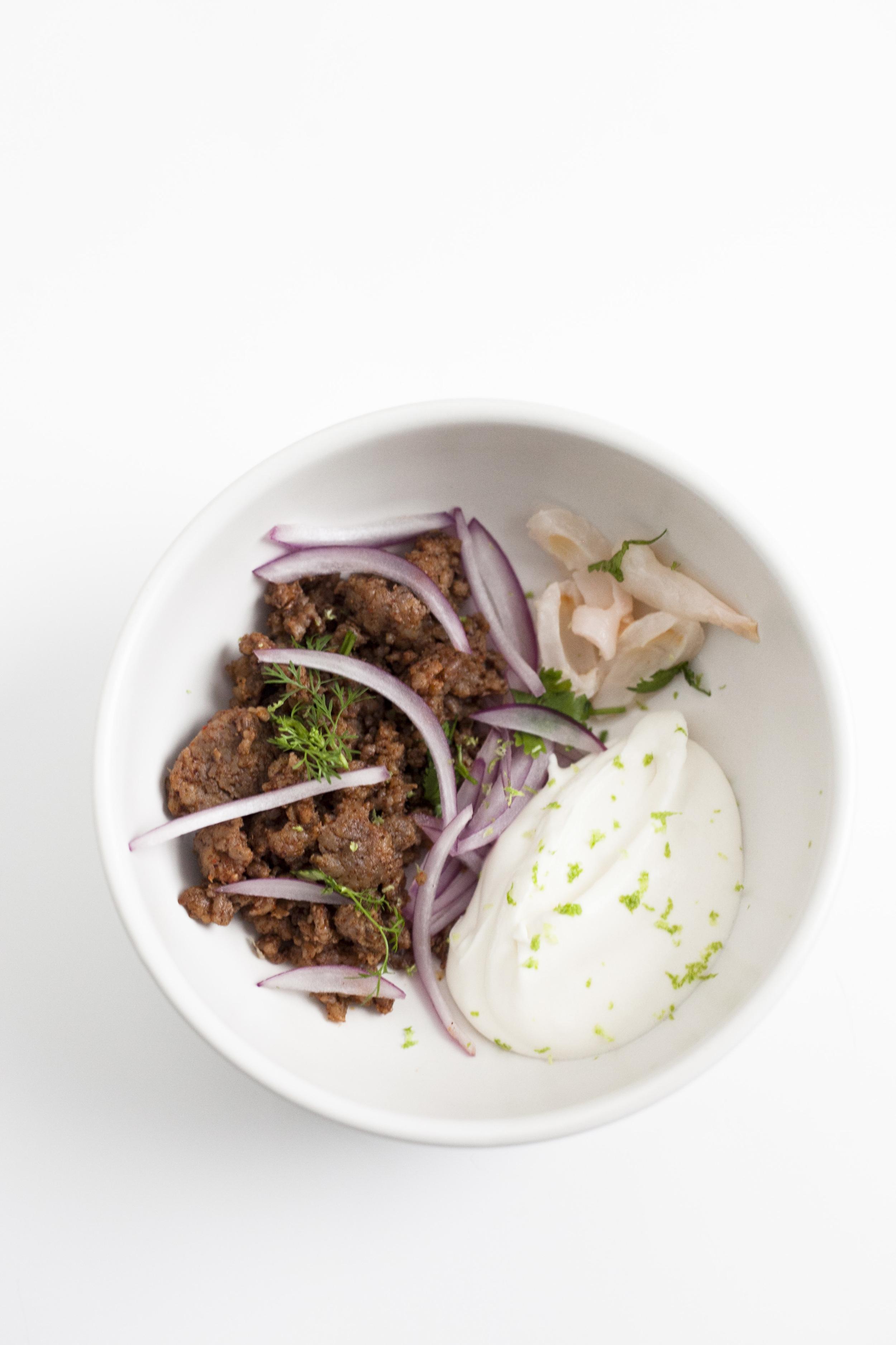 Warm Pork Lychee Salad