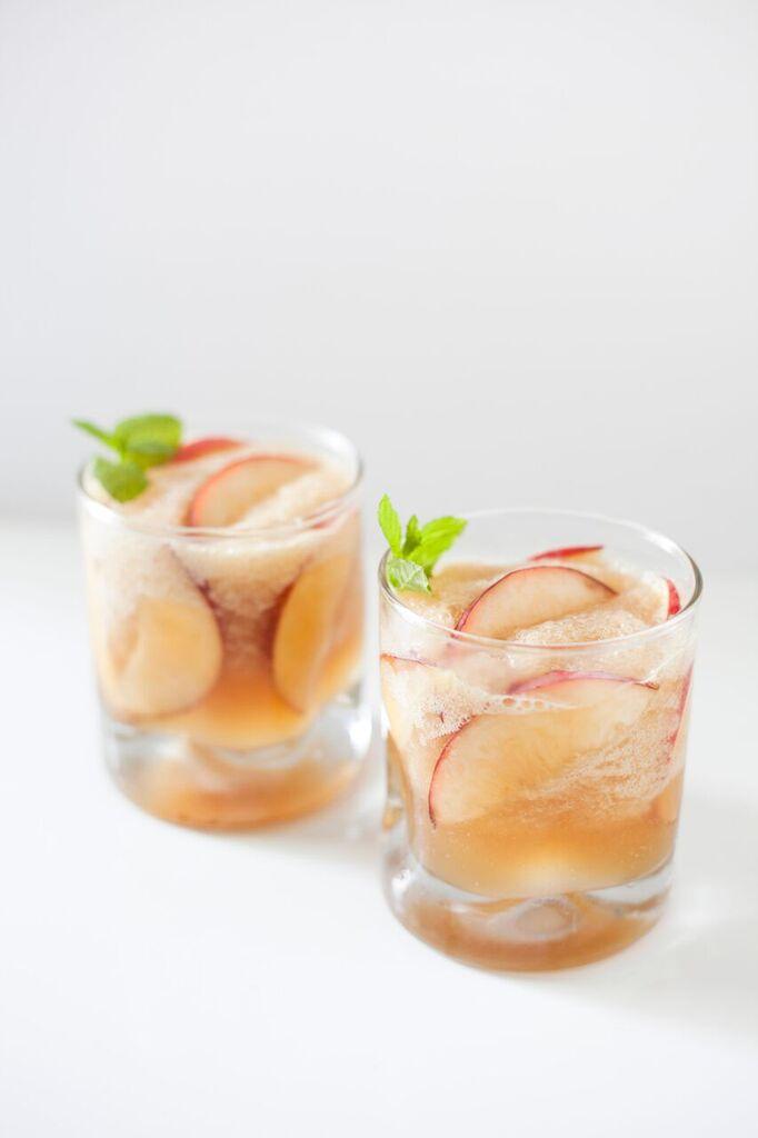 Summer Bourbon Peach Cocktail