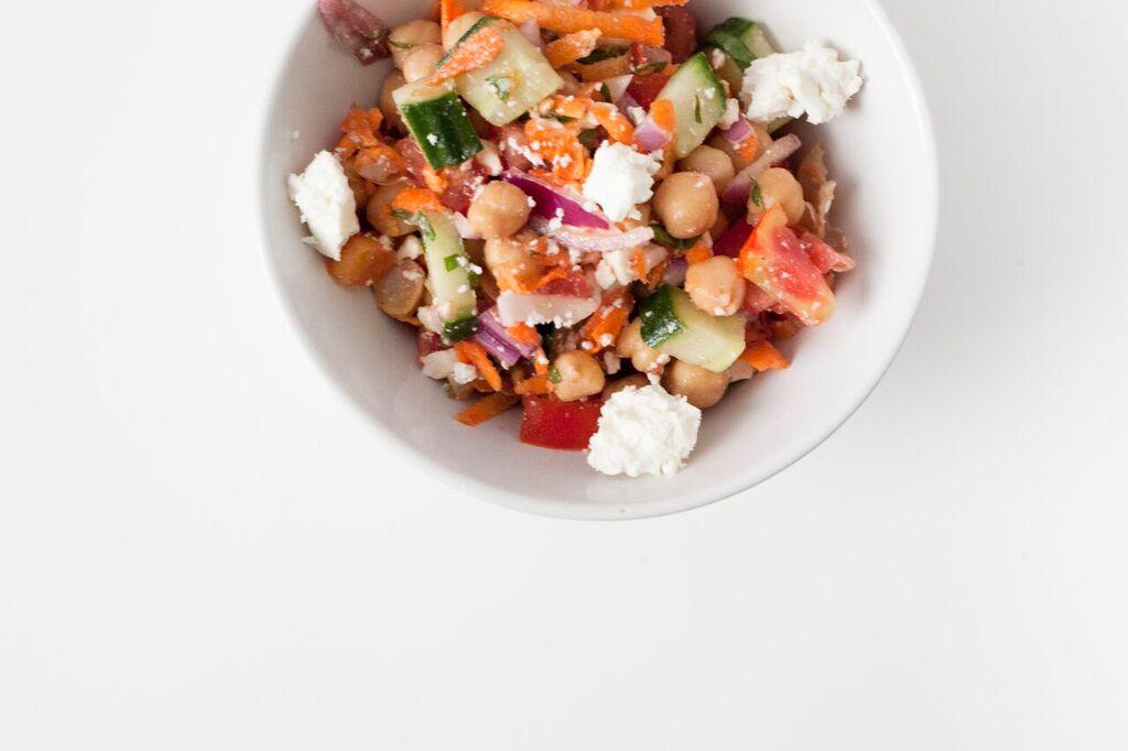 Healthy Summer Recipe | Garden Chickpea Salad