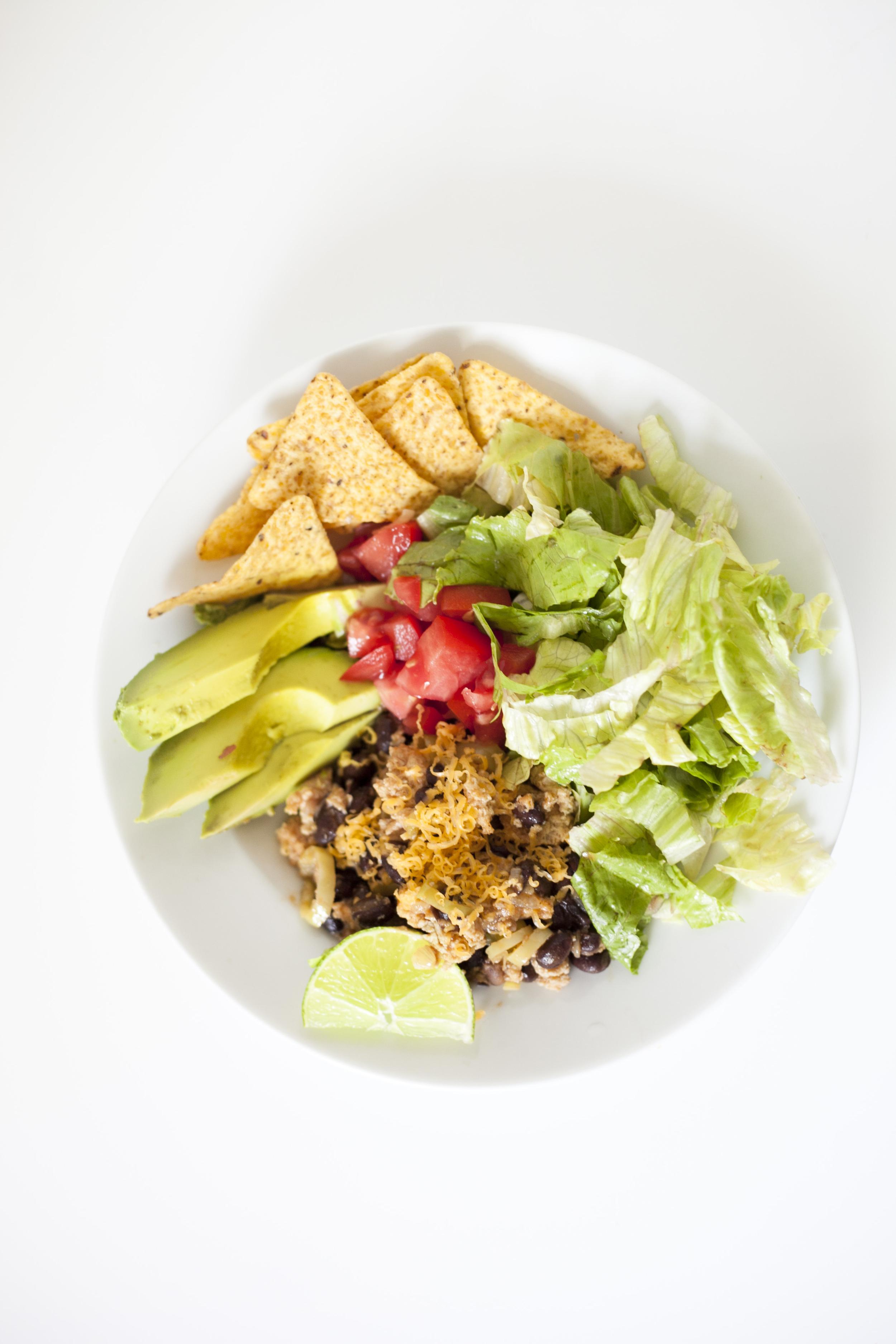 Football Season : Healthy Taco Salad