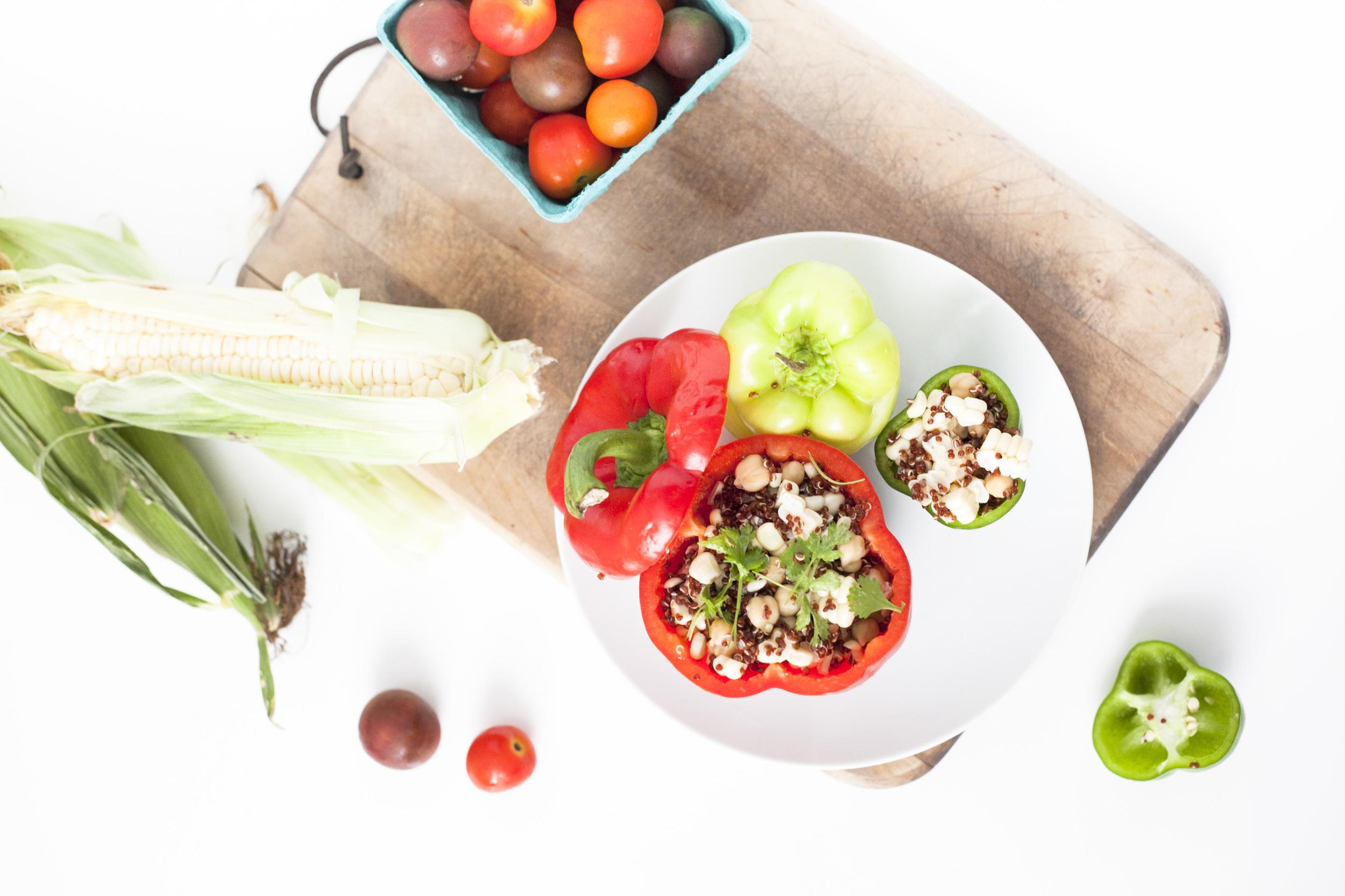 Summer Recipe : Vegetarian Garden Stuffed Peppers