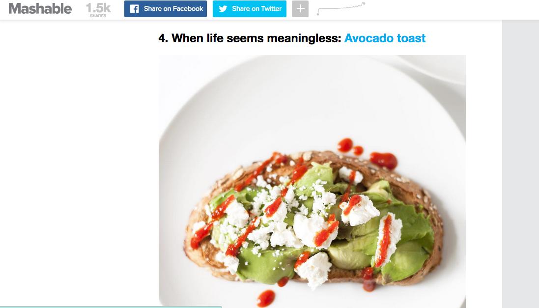 mashable avocado toast