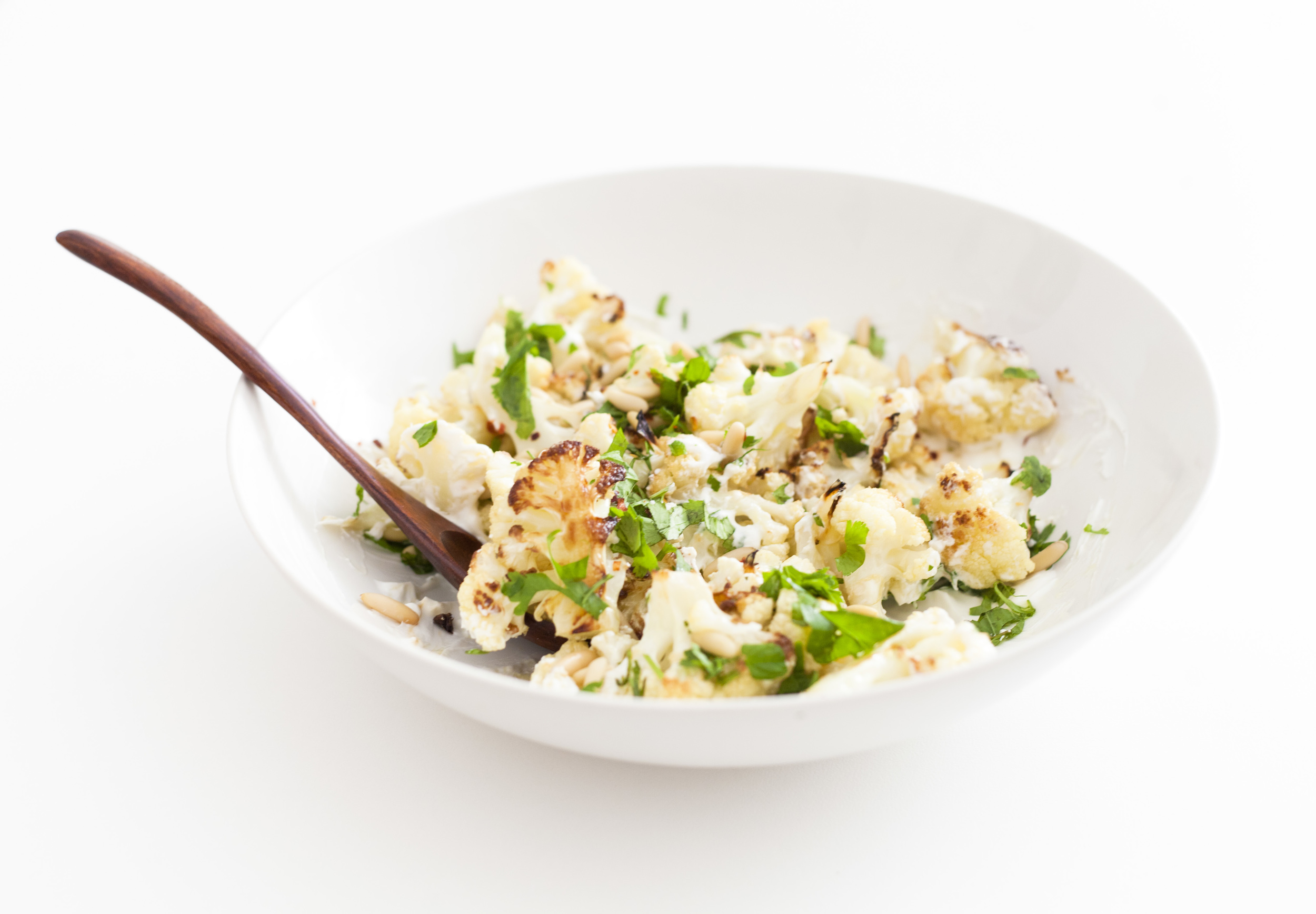 HERB ROASTED CAULIFLOWER WITH LEMON AND RED PEPPER FLAKES