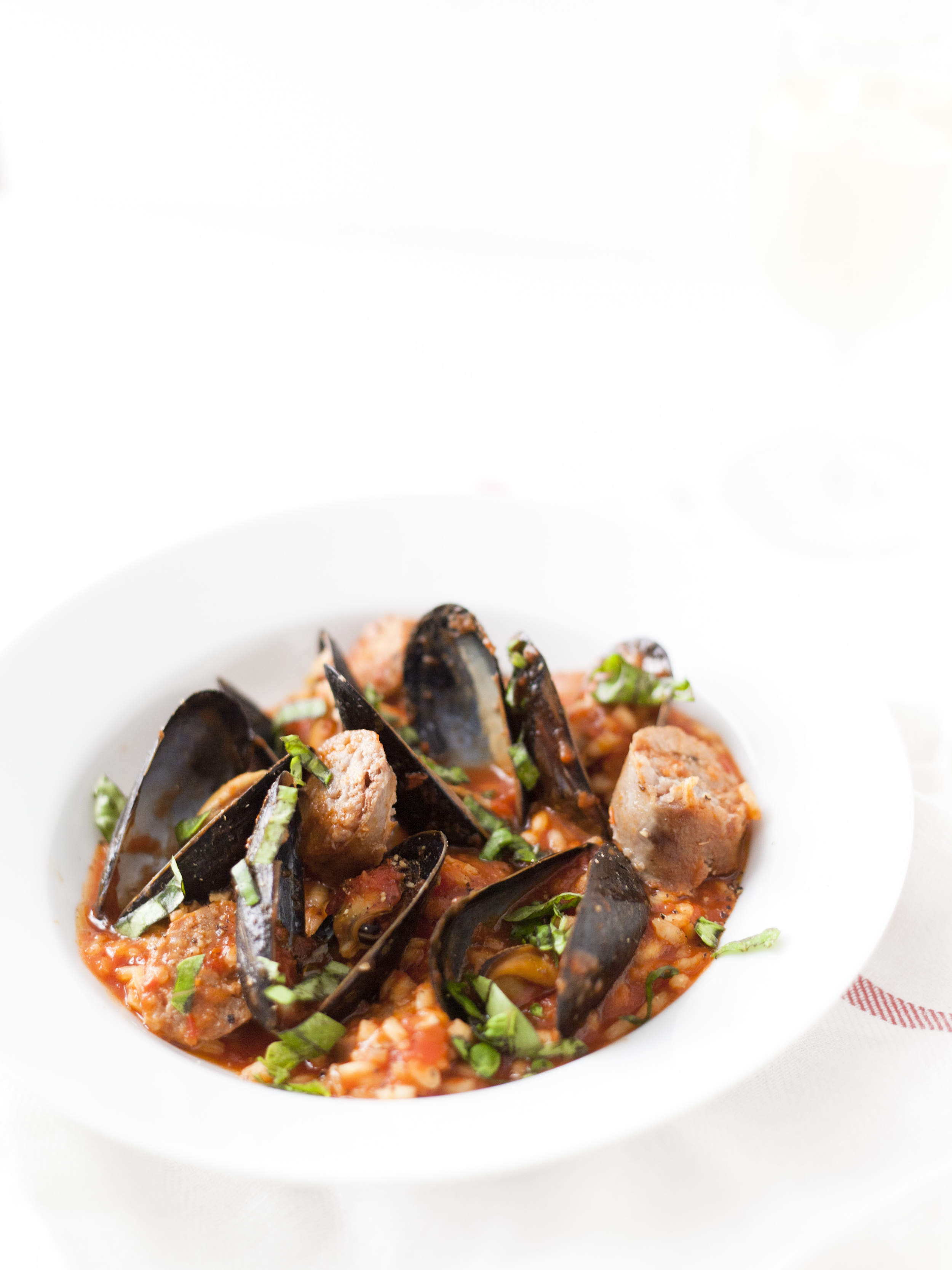 sausage mussel risotto recipe