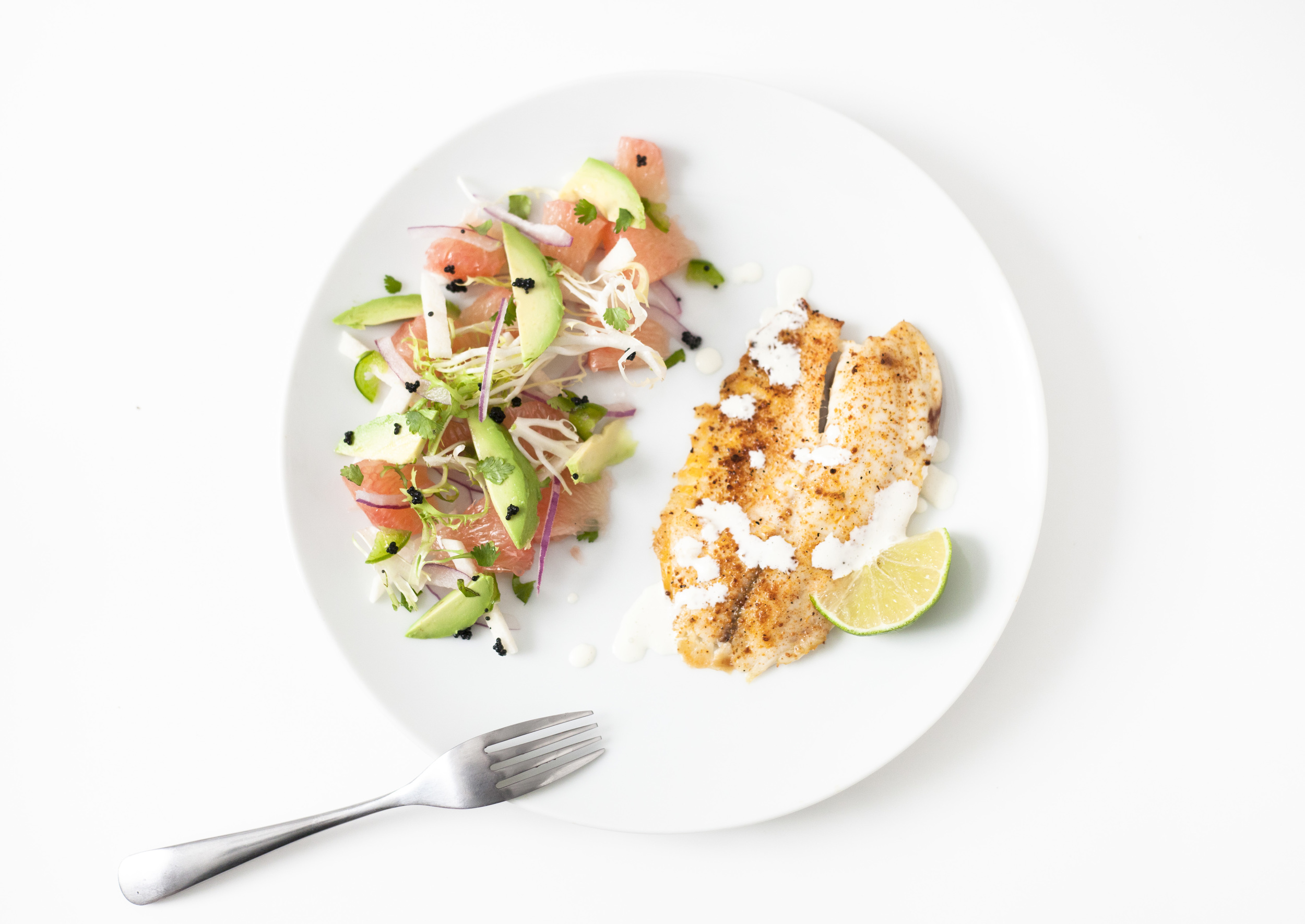 Easy and Light: Citrus Fish and Salad
