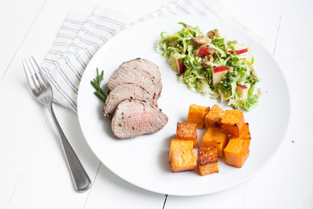 Rosemary Pork Loin and full fall meal Recipe