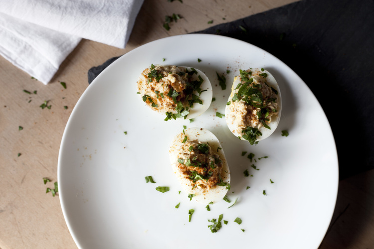 Protein Packed Tuna Deviled Eggs