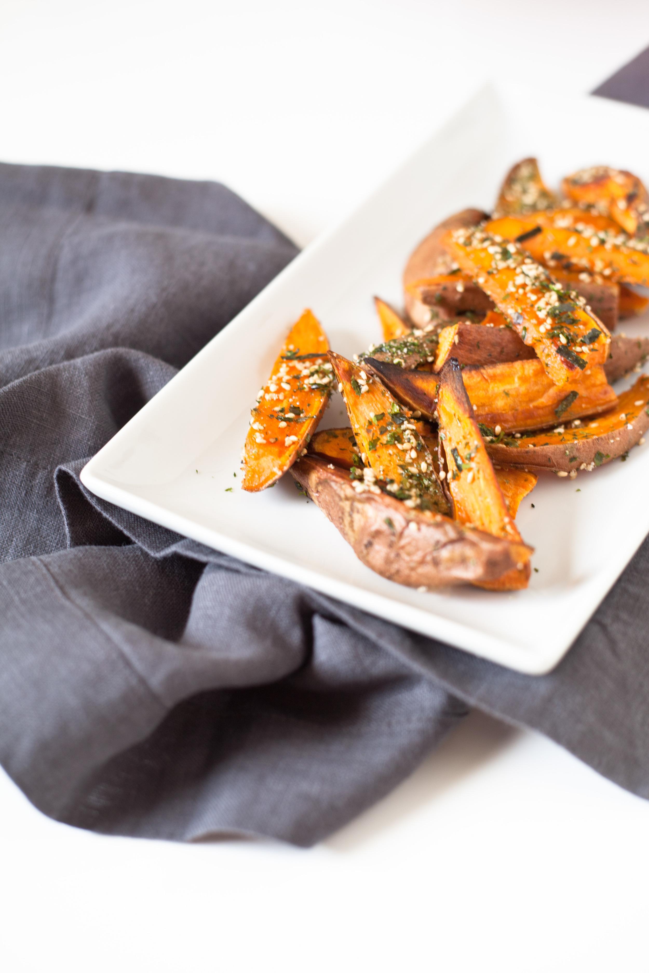 Japanese Frites: Sweet Potato with Seaweed Seasoning